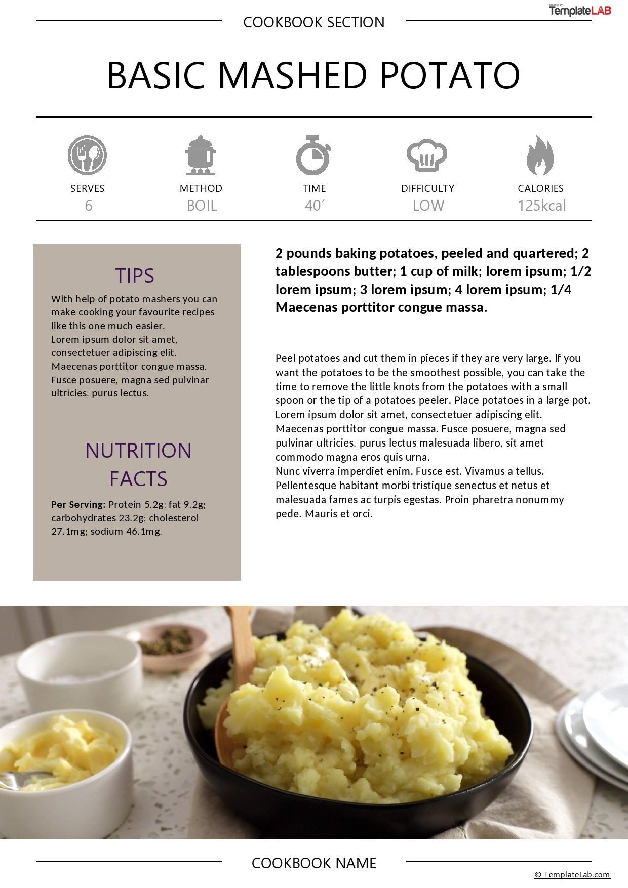 Free Cookbook Template 03 - TemplateLab.com