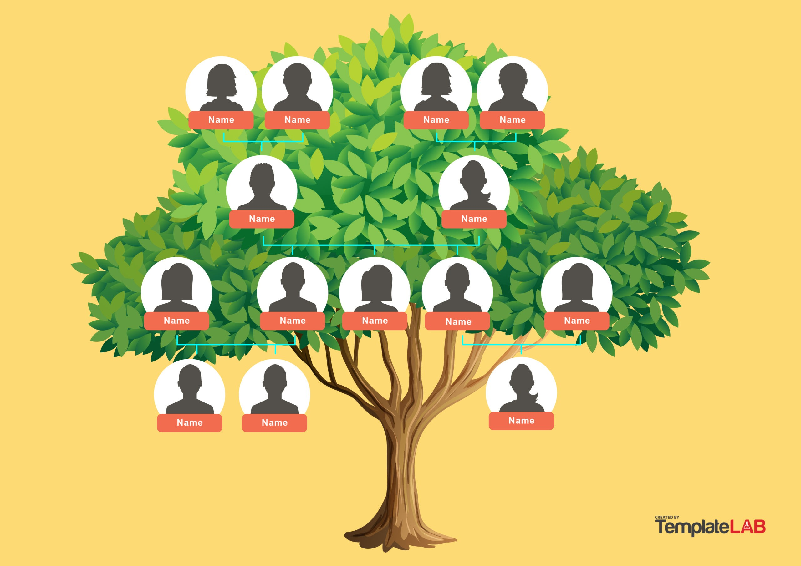 Free Family Tree Template 13 - TemplateLab.com