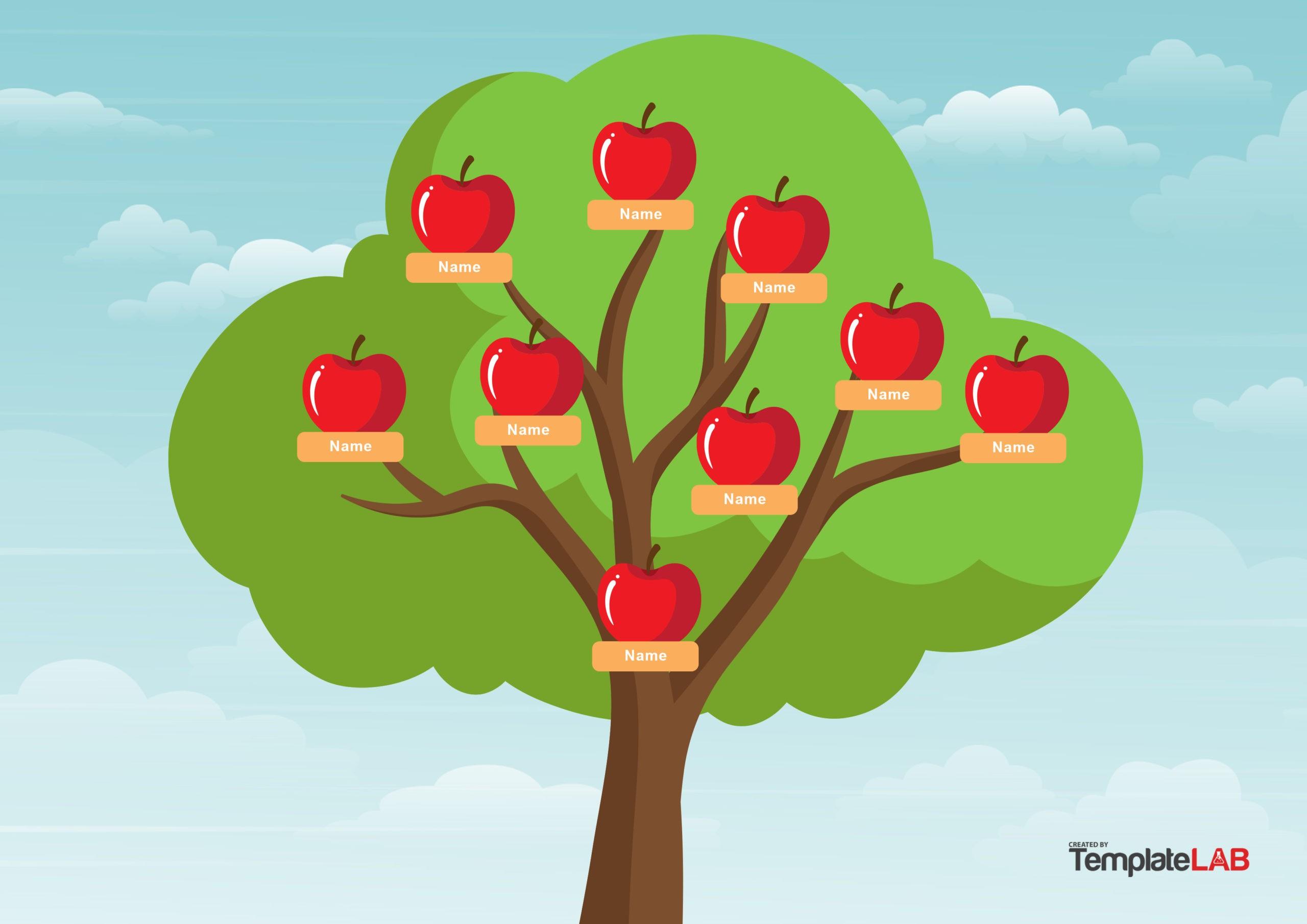 Free Family Tree Template 14 - TemplateLab.com