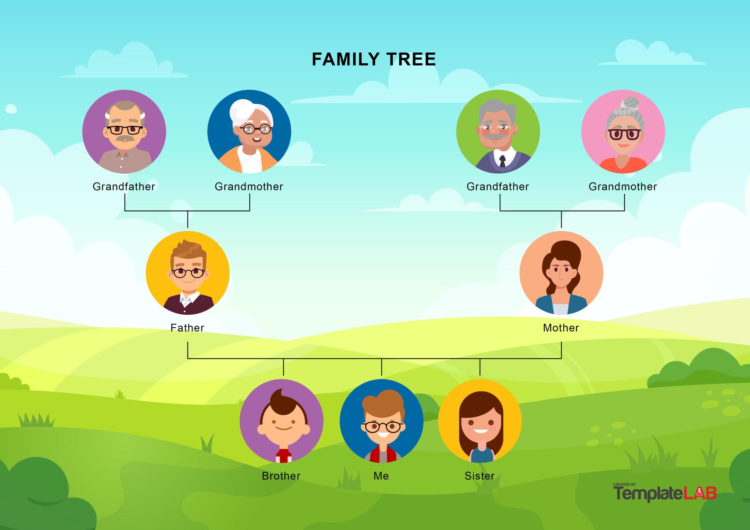 Free Family Tree Template 15 - TemplateLab.com