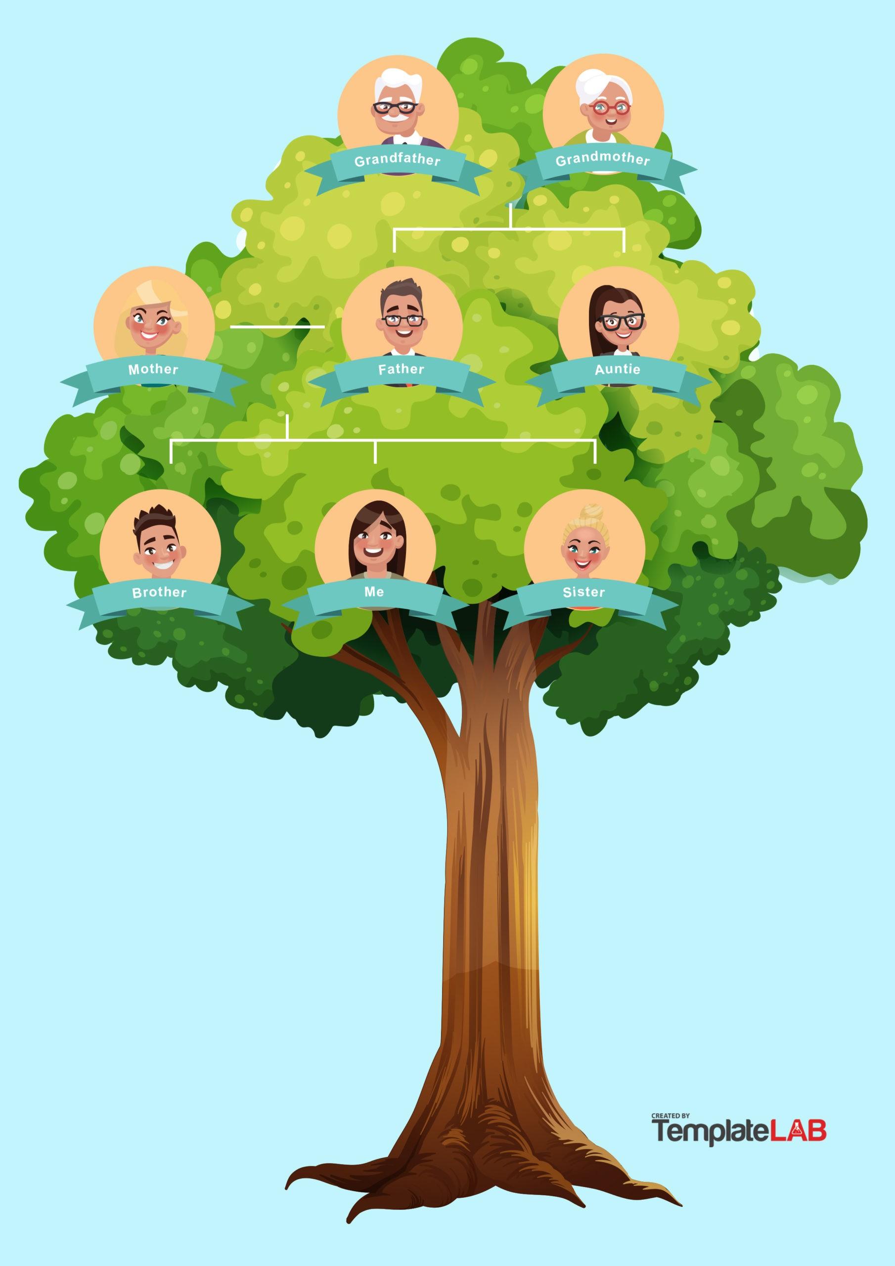 Free Family Tree Template 17 - TemplateLab.com