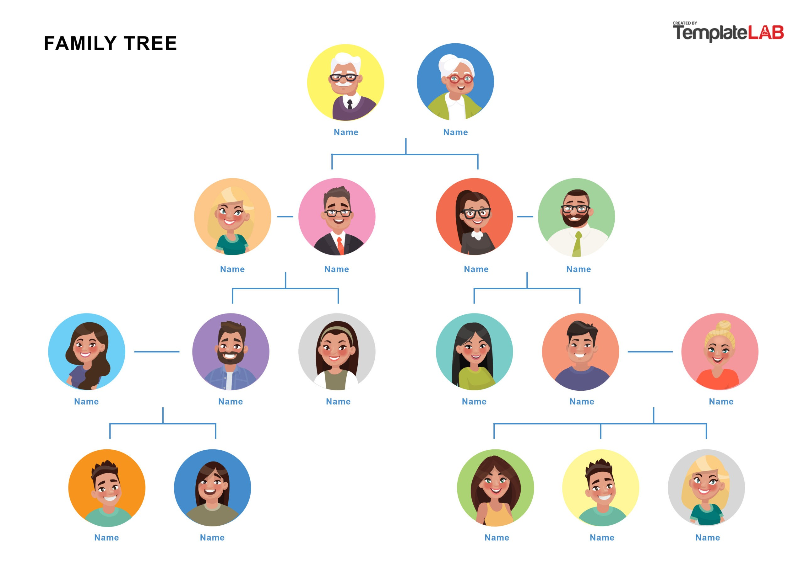 Free Family Tree Template 18 - TemplateLab.com
