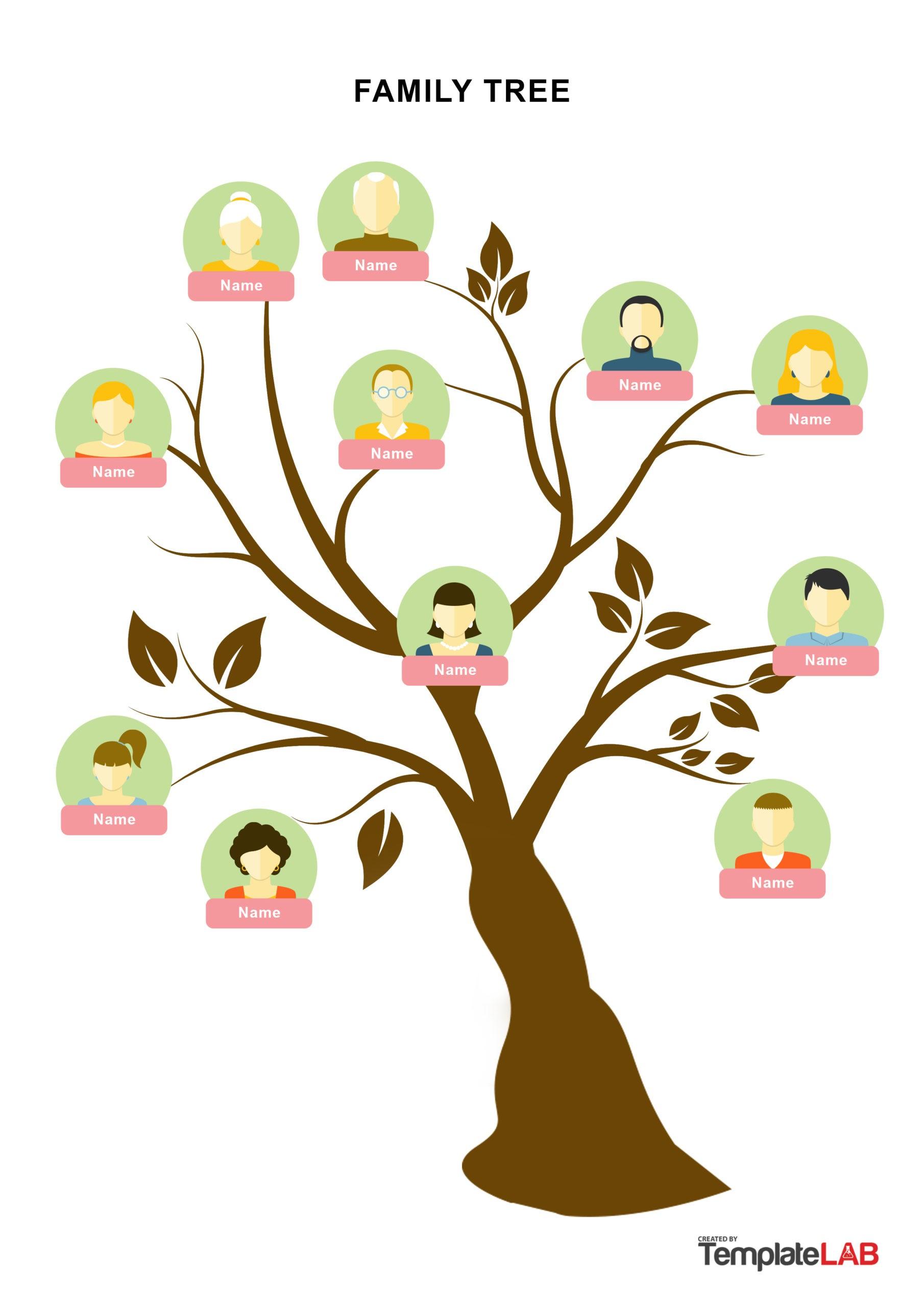 Free Family Tree Template 19 - TemplateLab.com
