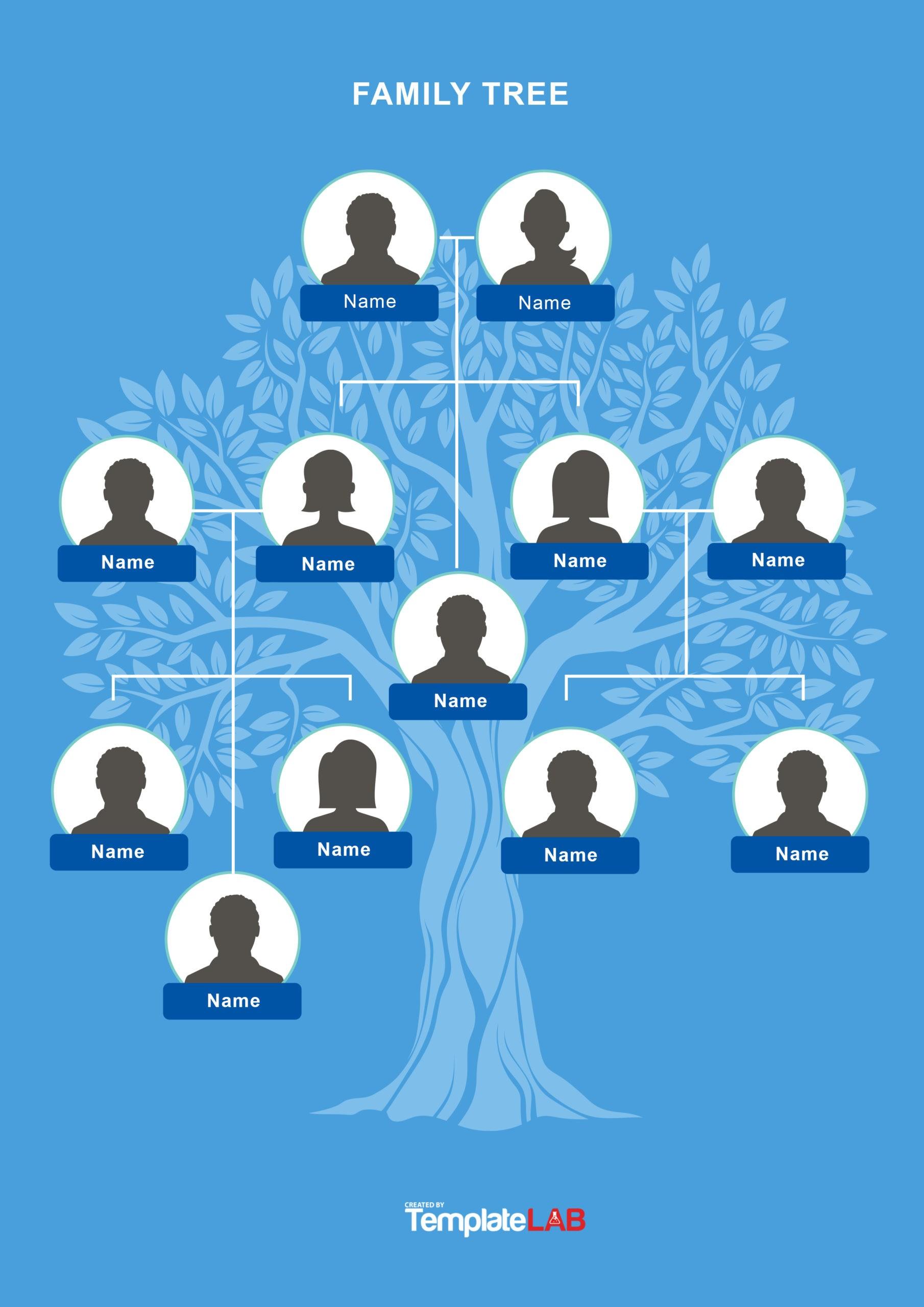 Free Family Tree Template 20 - TemplateLab.com