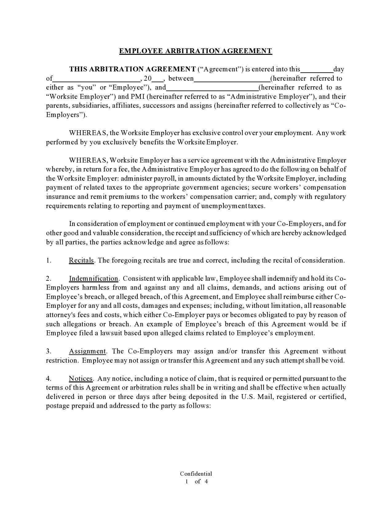 Free arbitration agreement 11