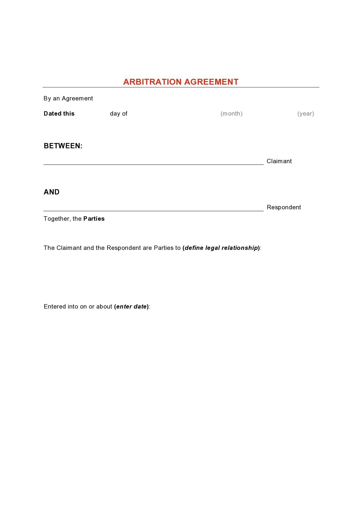 Free arbitration agreement 13