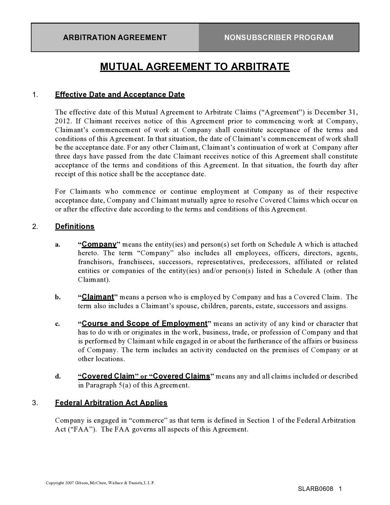 Free arbitration agreement 16