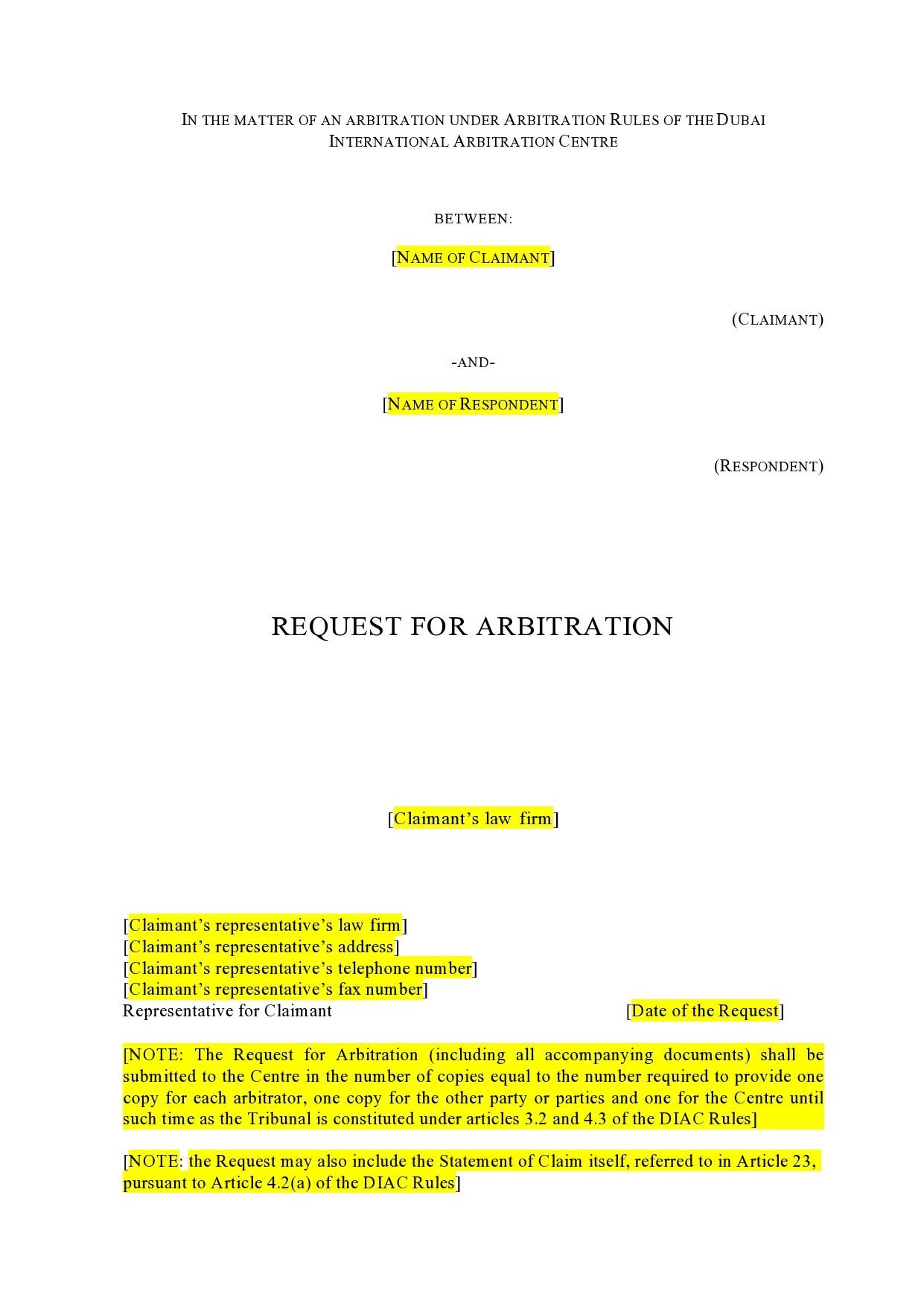 Free arbitration agreement 33
