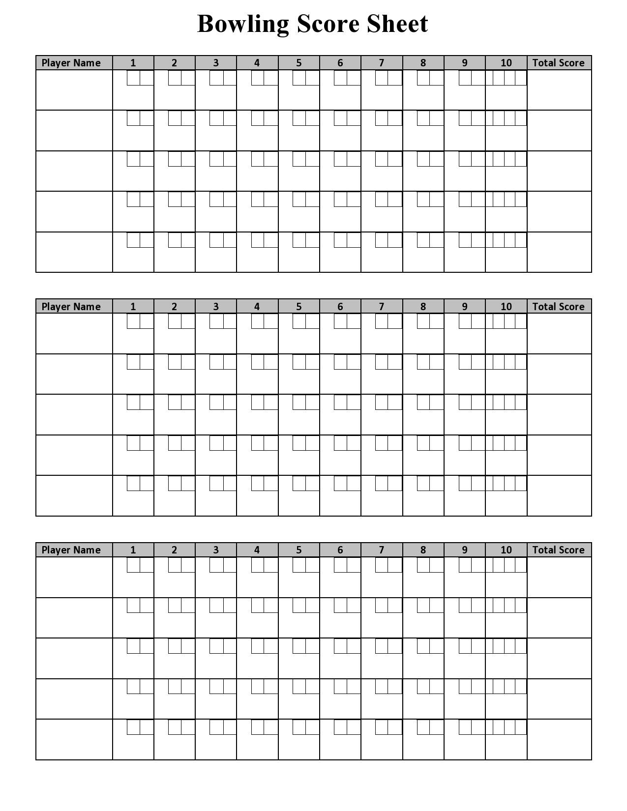 Free bowling score sheet 01