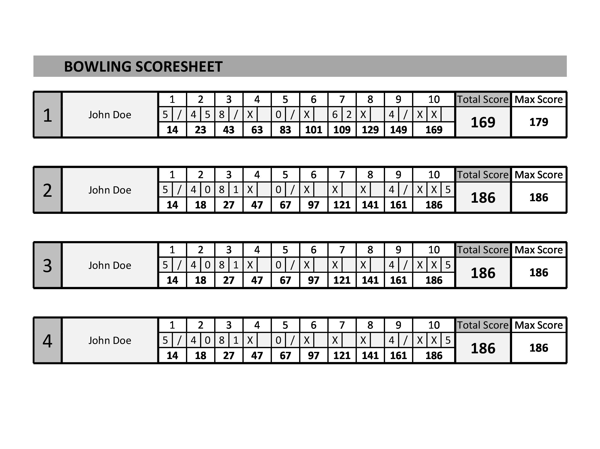 Free bowling score sheet 08