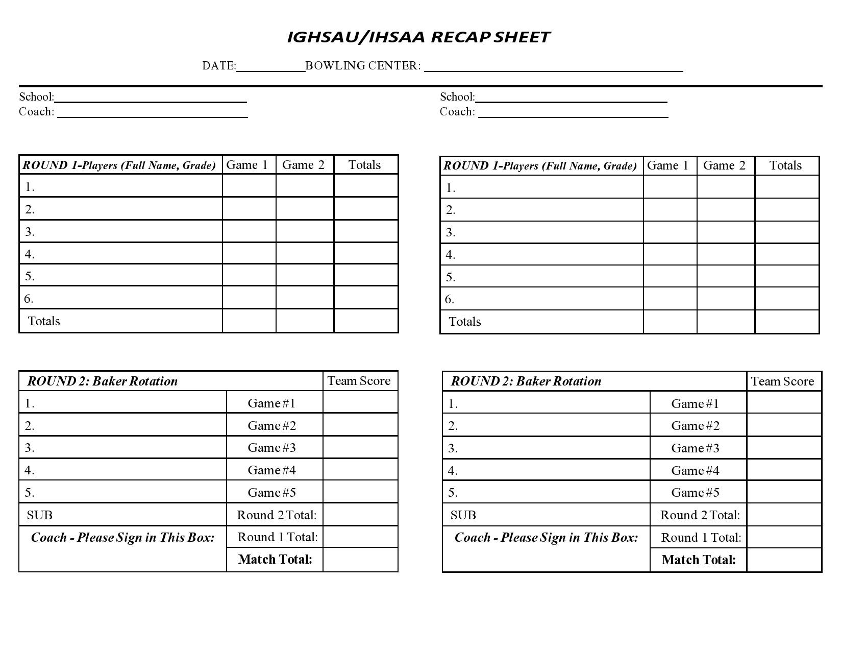 Free bowling score sheet 15