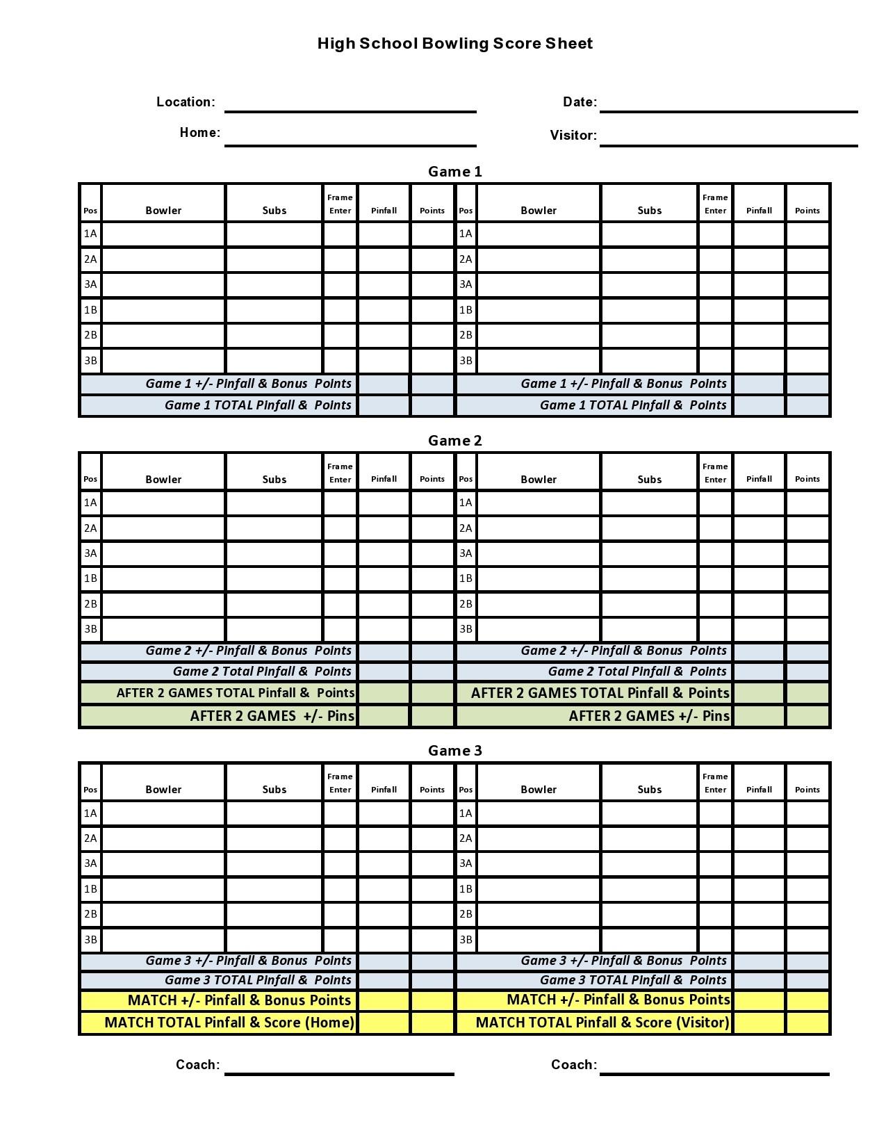 Free bowling score sheet 20