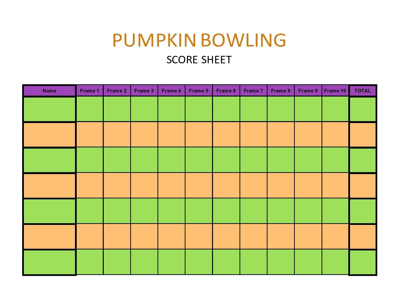 Free bowling score sheet 22