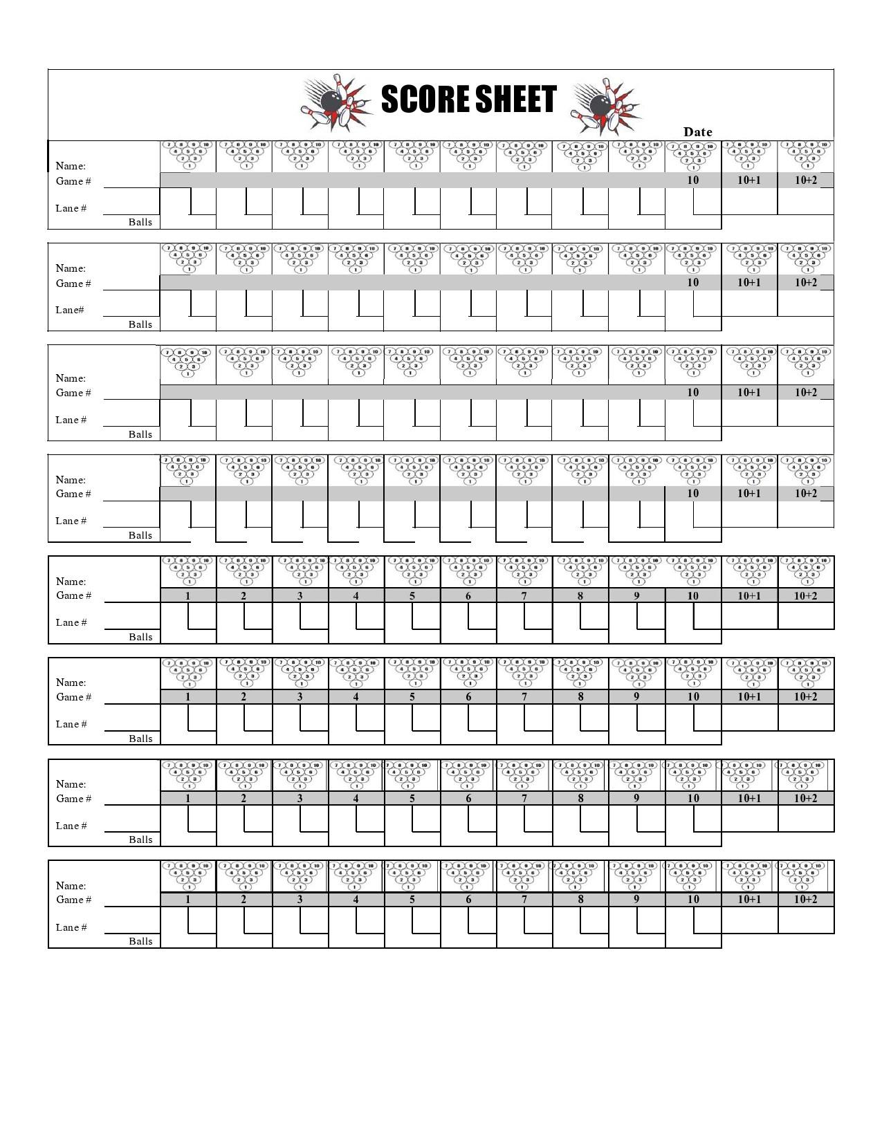 Free bowling score sheet 28
