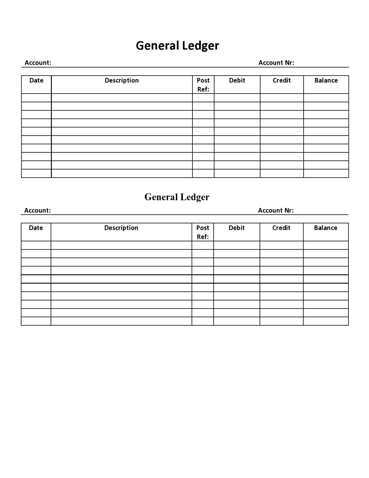 Free general ledger template 07