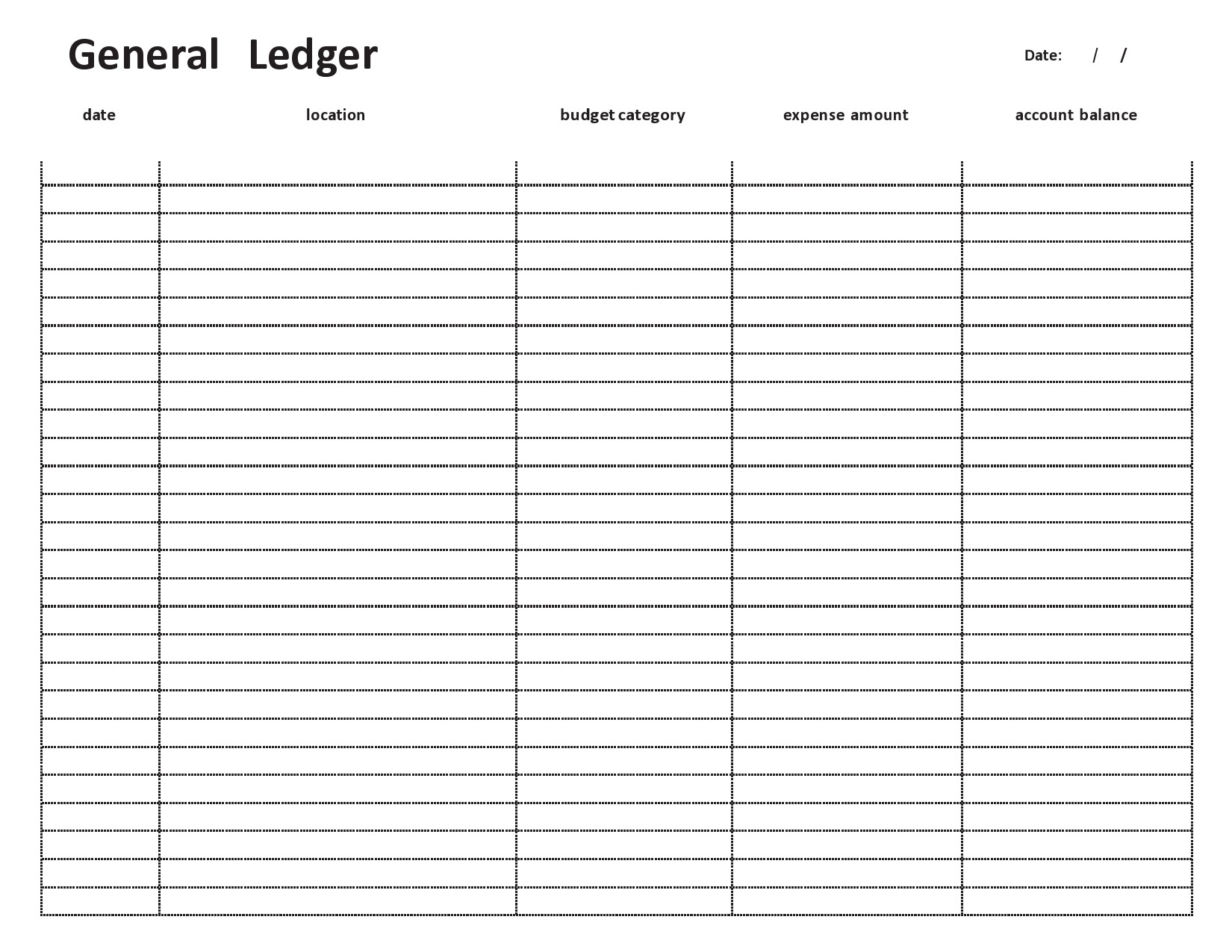 Free general ledger template 17