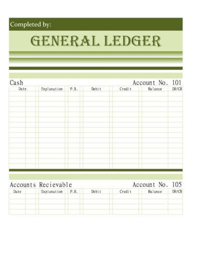 General Ledger Templates