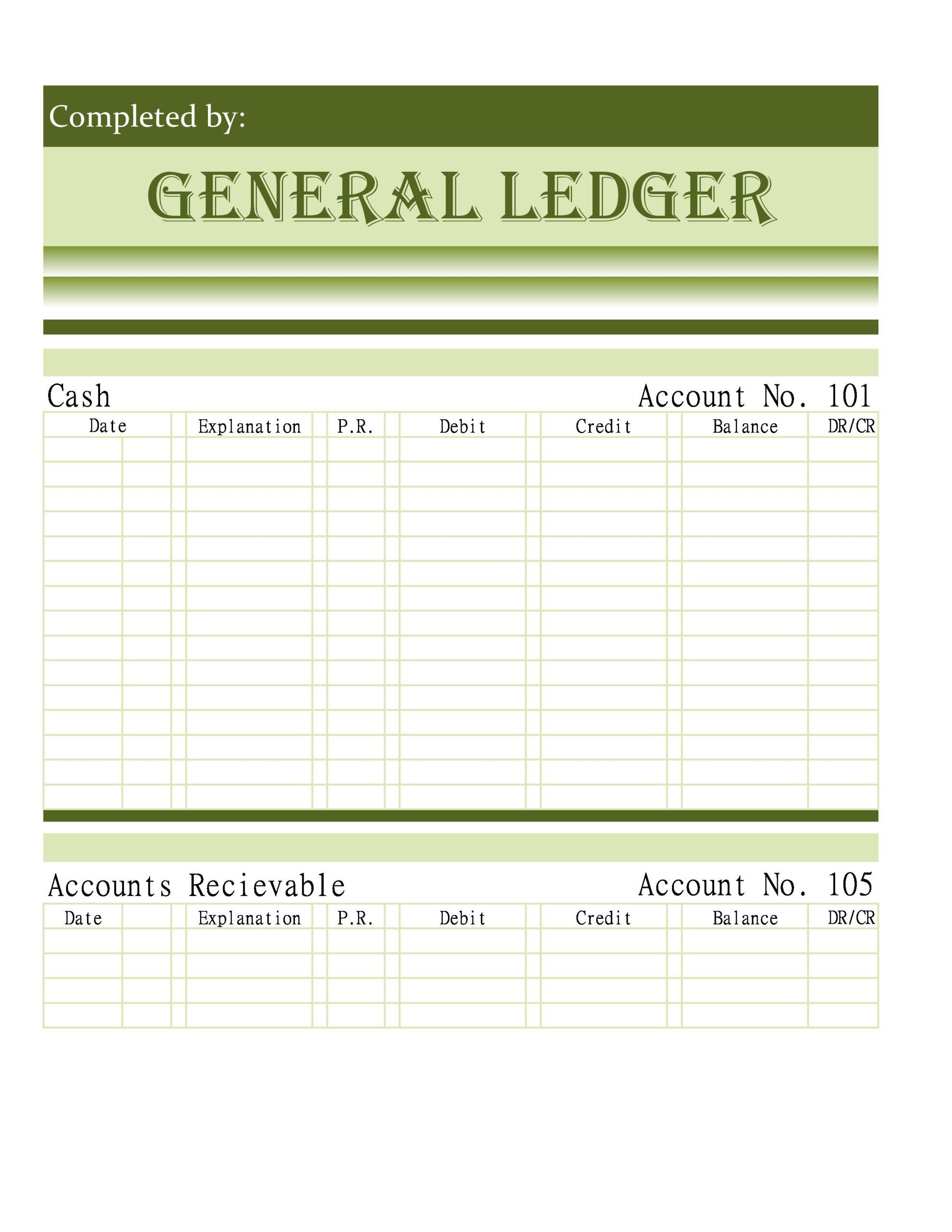 Free general ledger template 35