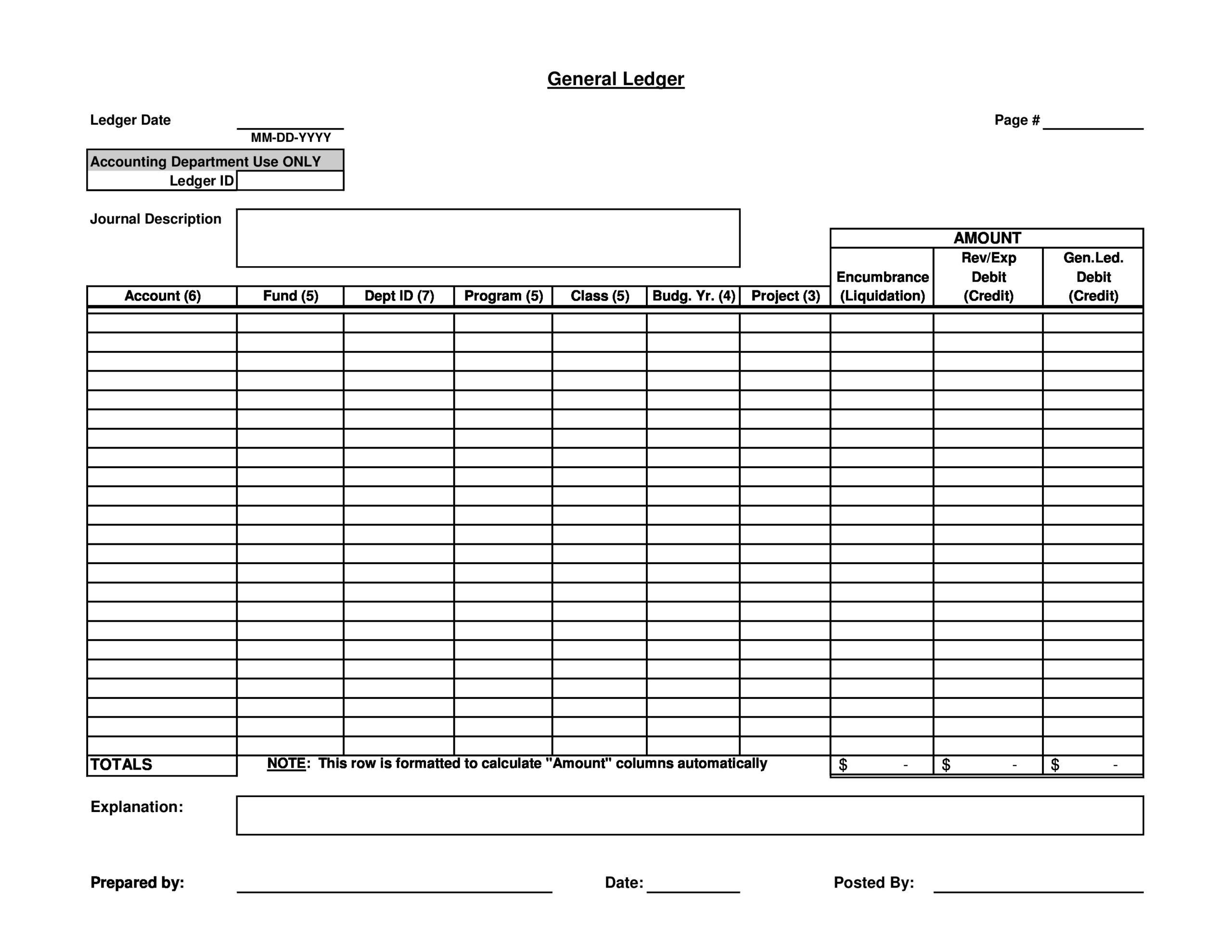 Free general ledger template 37
