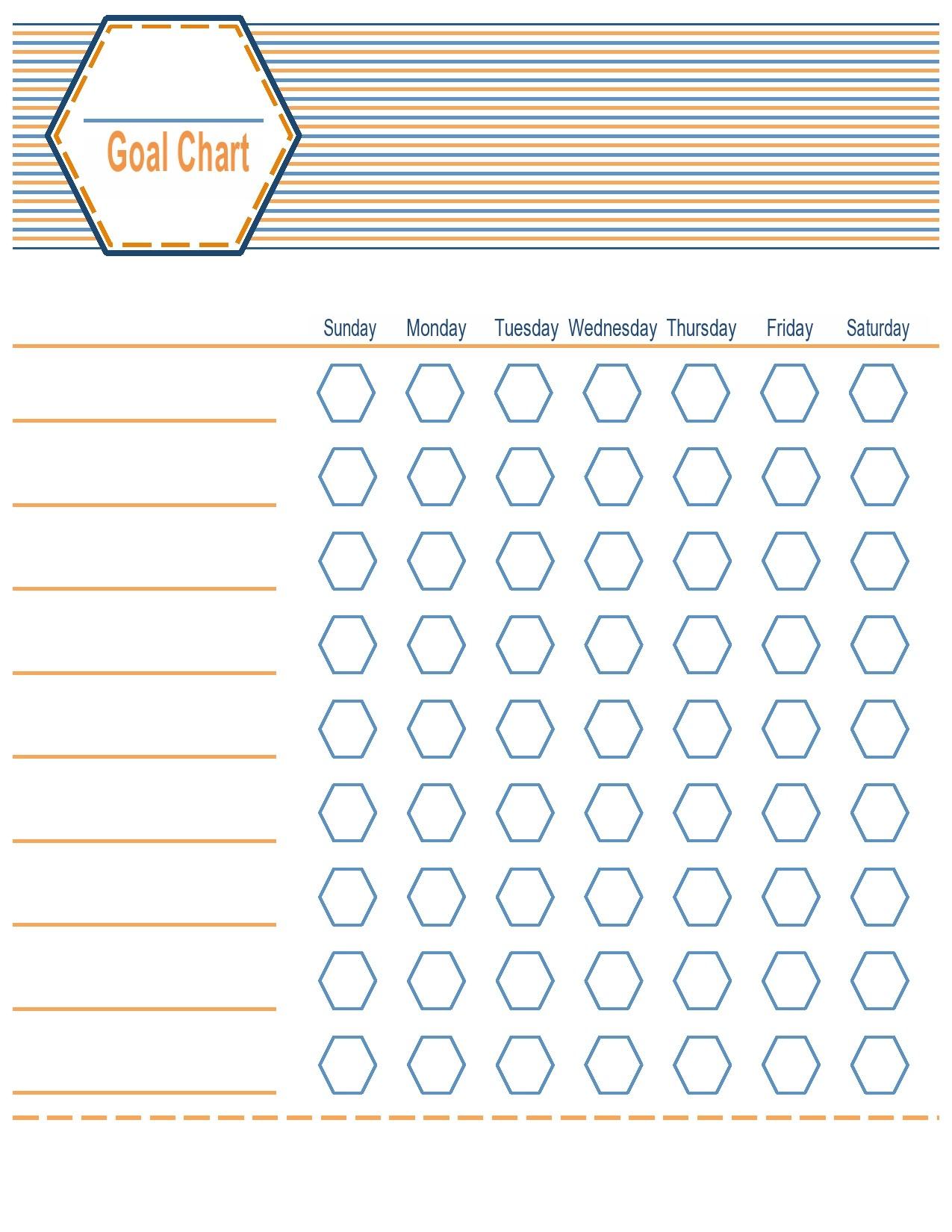 Free goal chart template 05