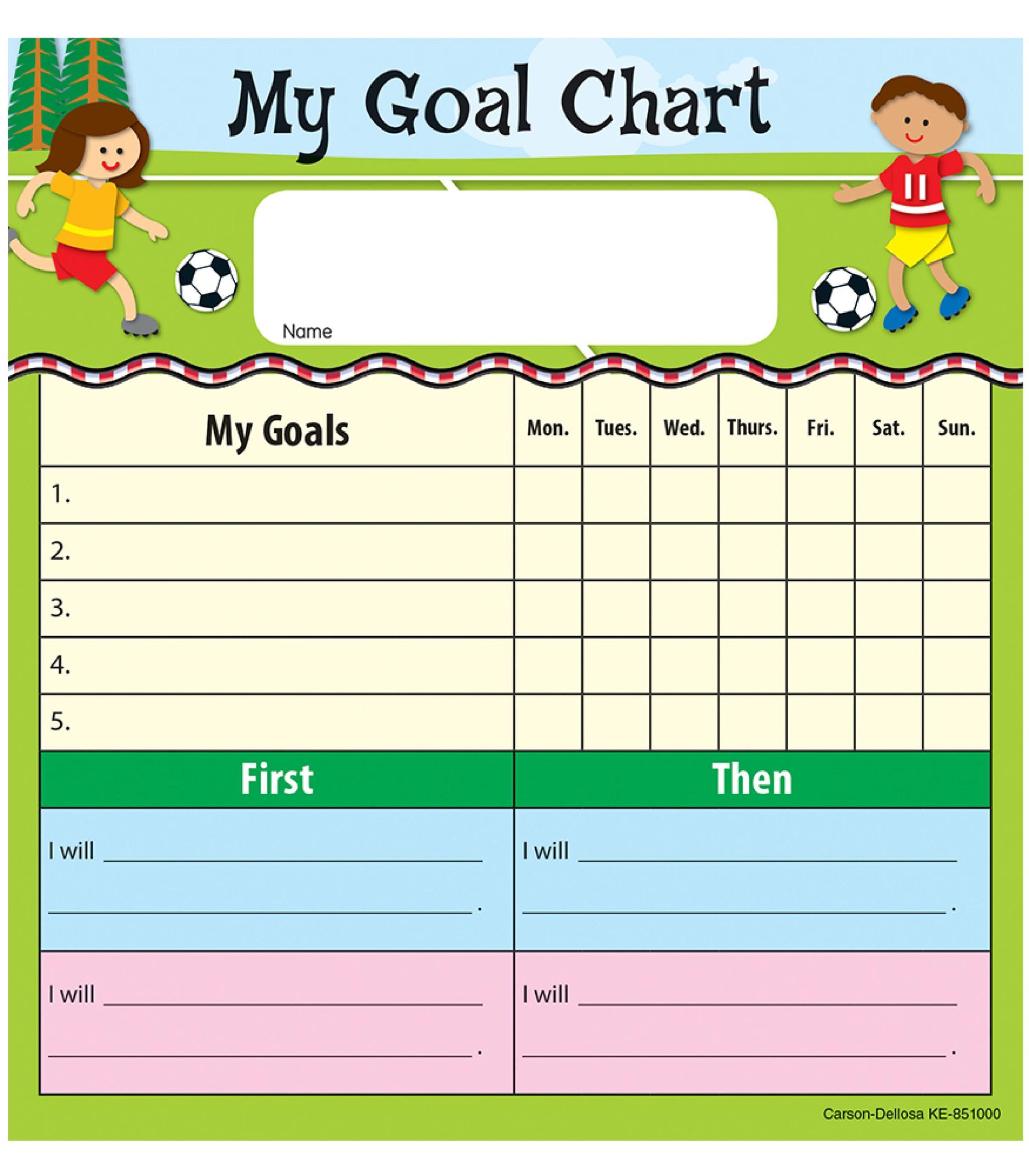 Free goal chart template 13