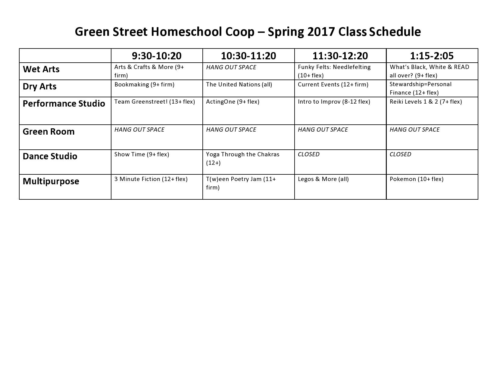Free homeschool schedule template 14