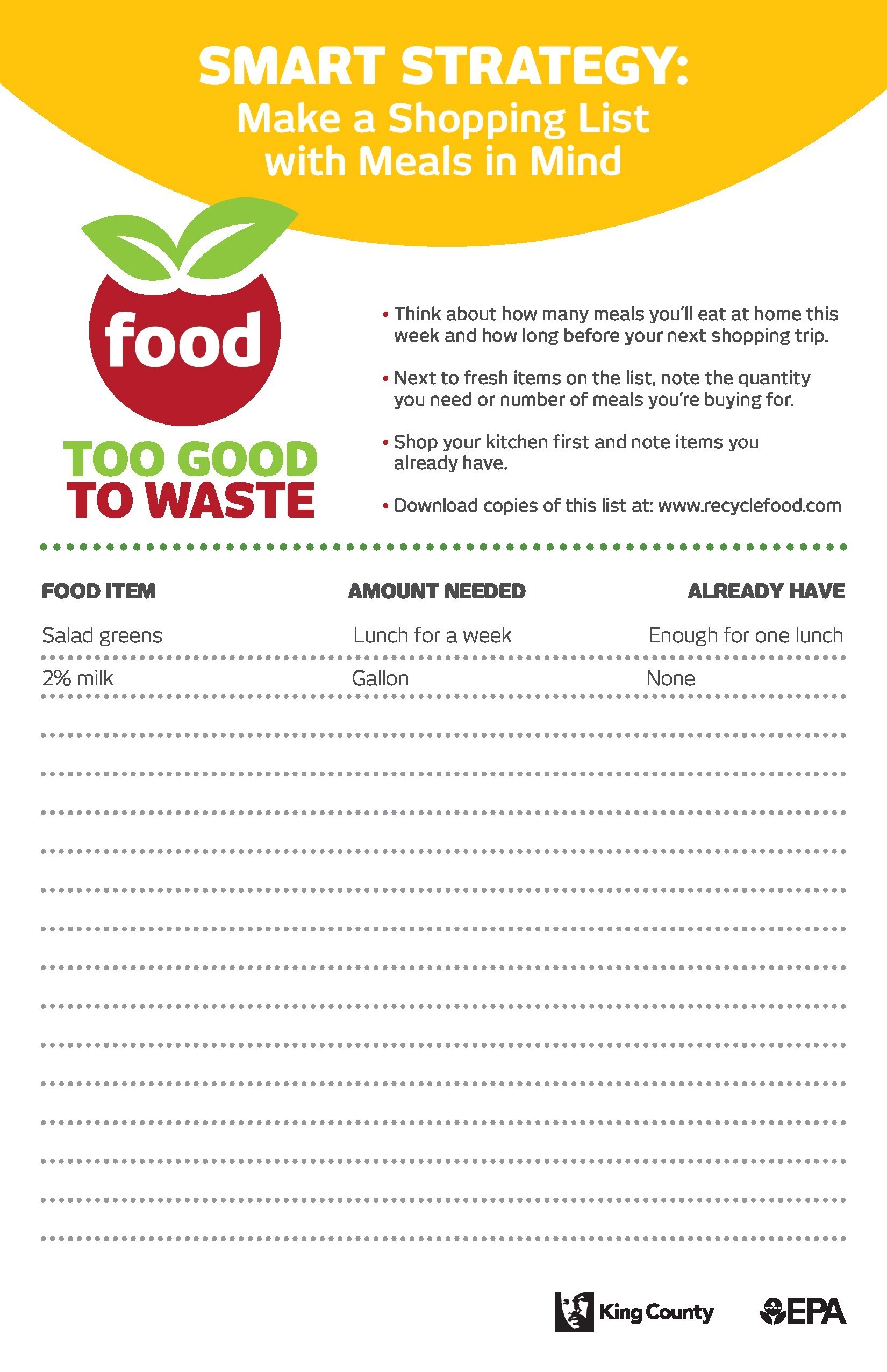 Free master grocery list 26