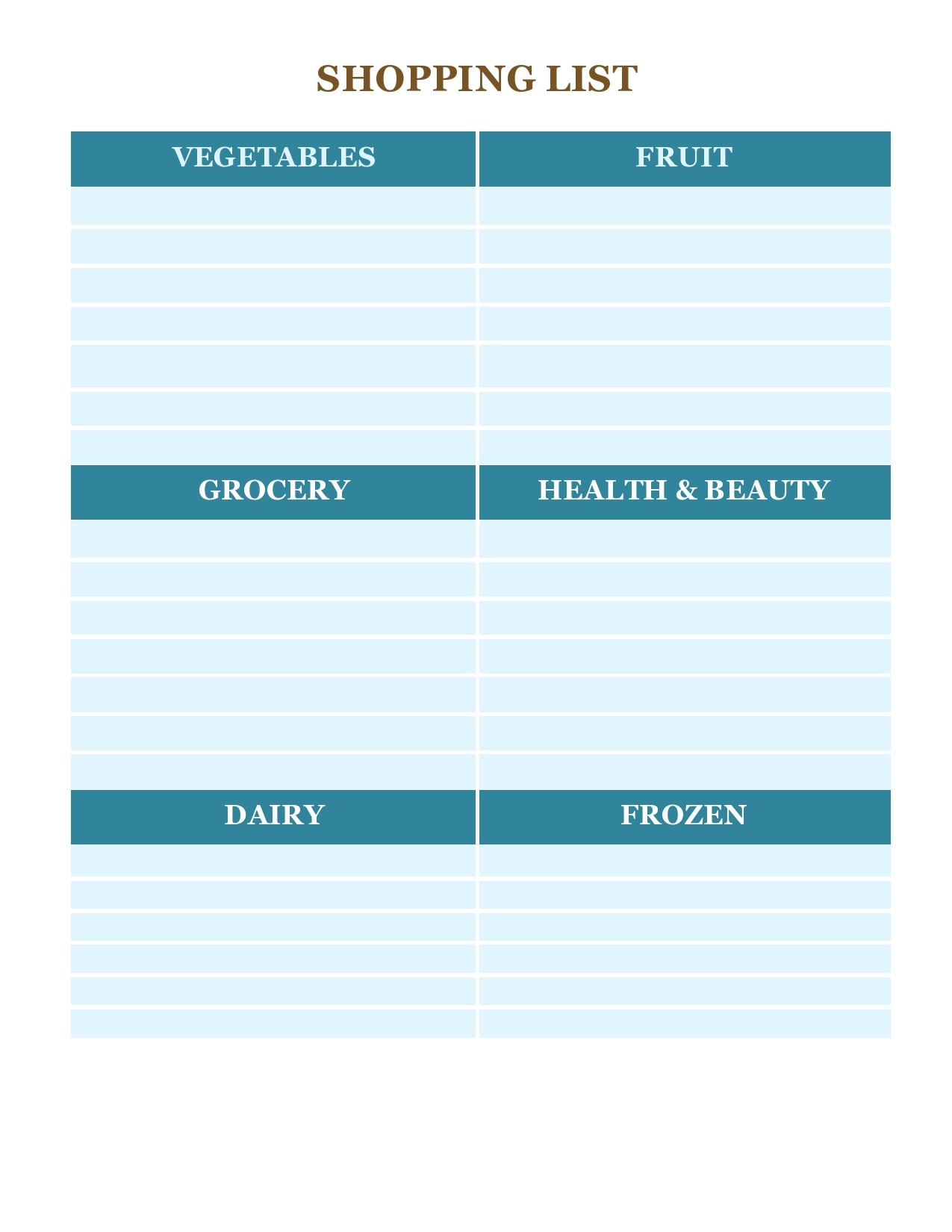 Free master grocery list 27