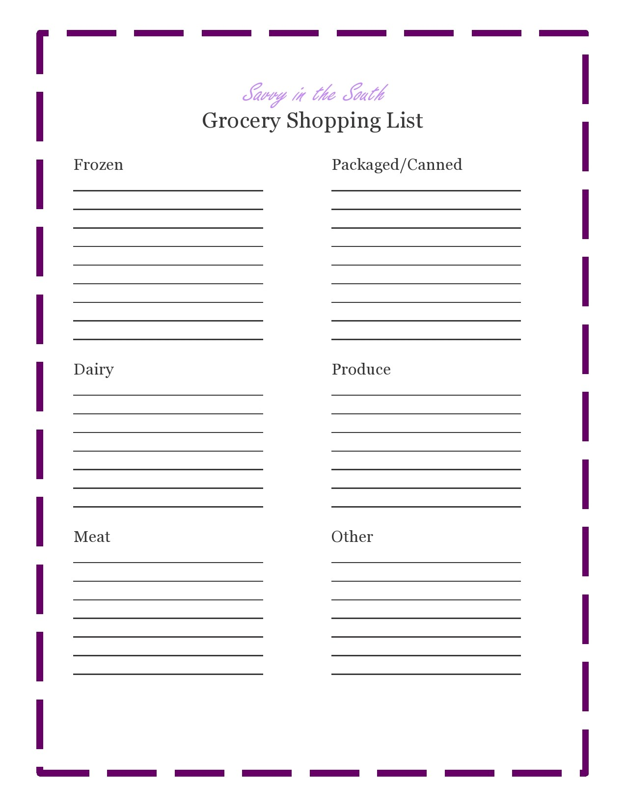 Free master grocery list 28