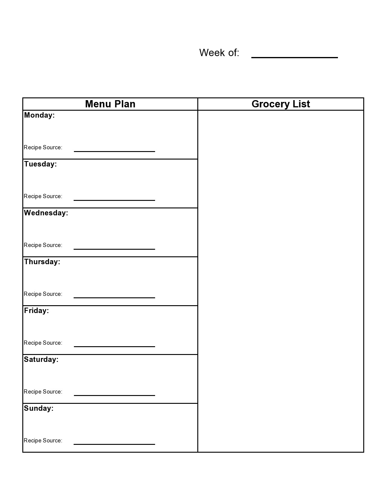 Free master grocery list 37