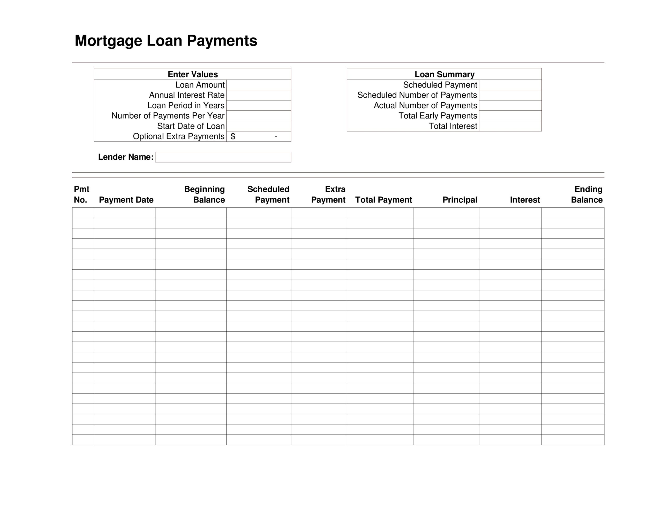 Free payment schedule template 15