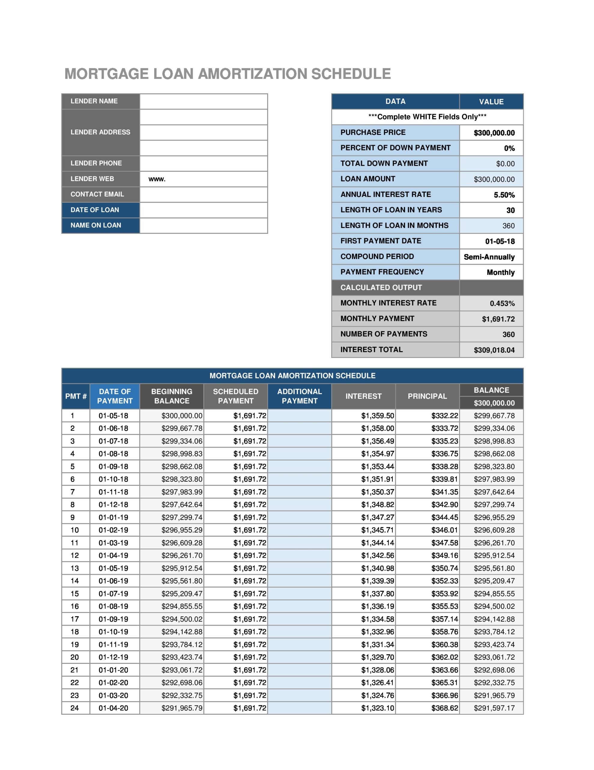 Free payment schedule template 19