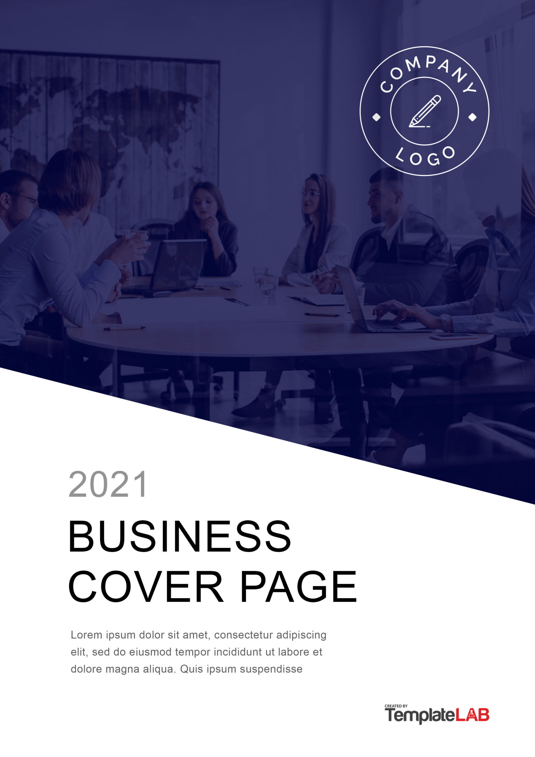 Free Business Cover Page template - TemplateLab.com