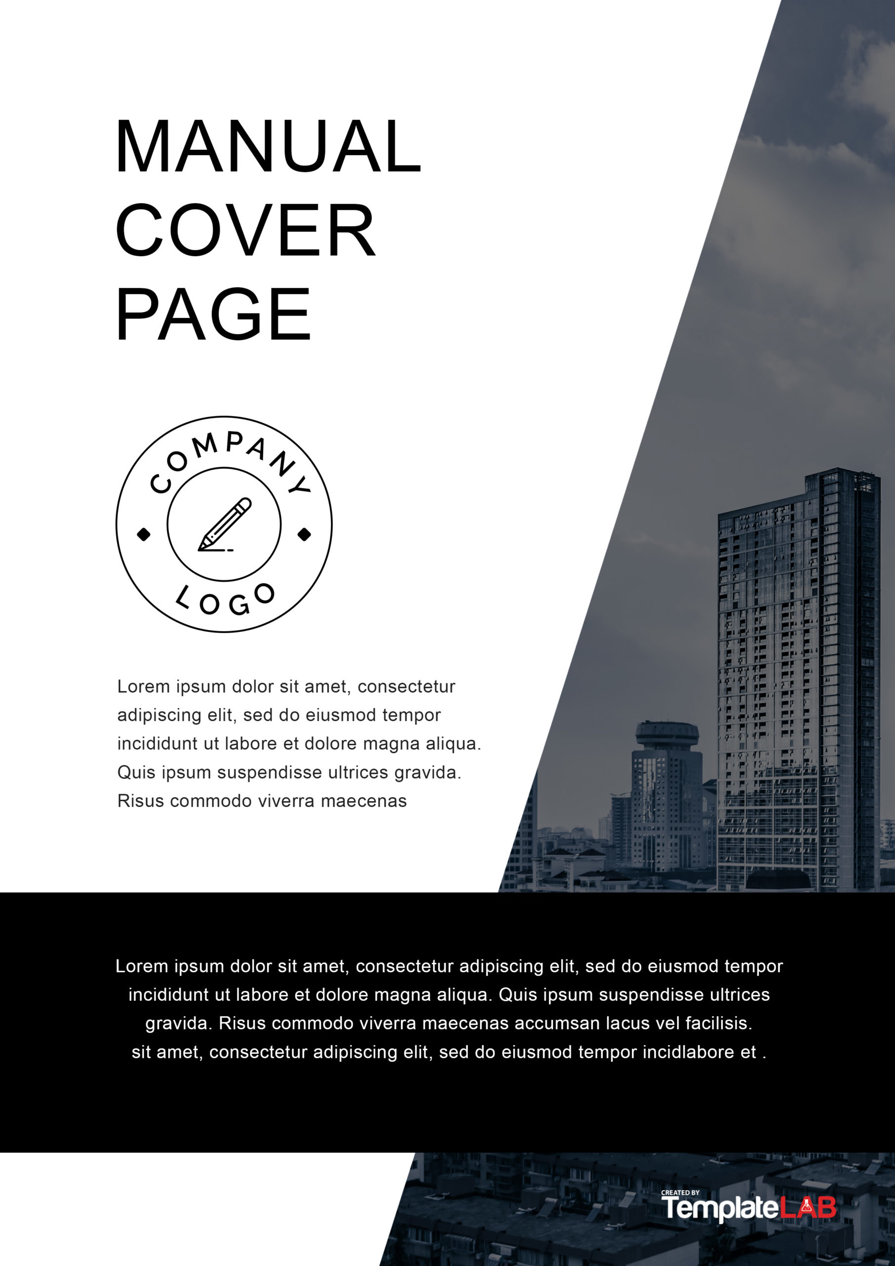 Free Manual Cover Page Template - TemplateLab.com