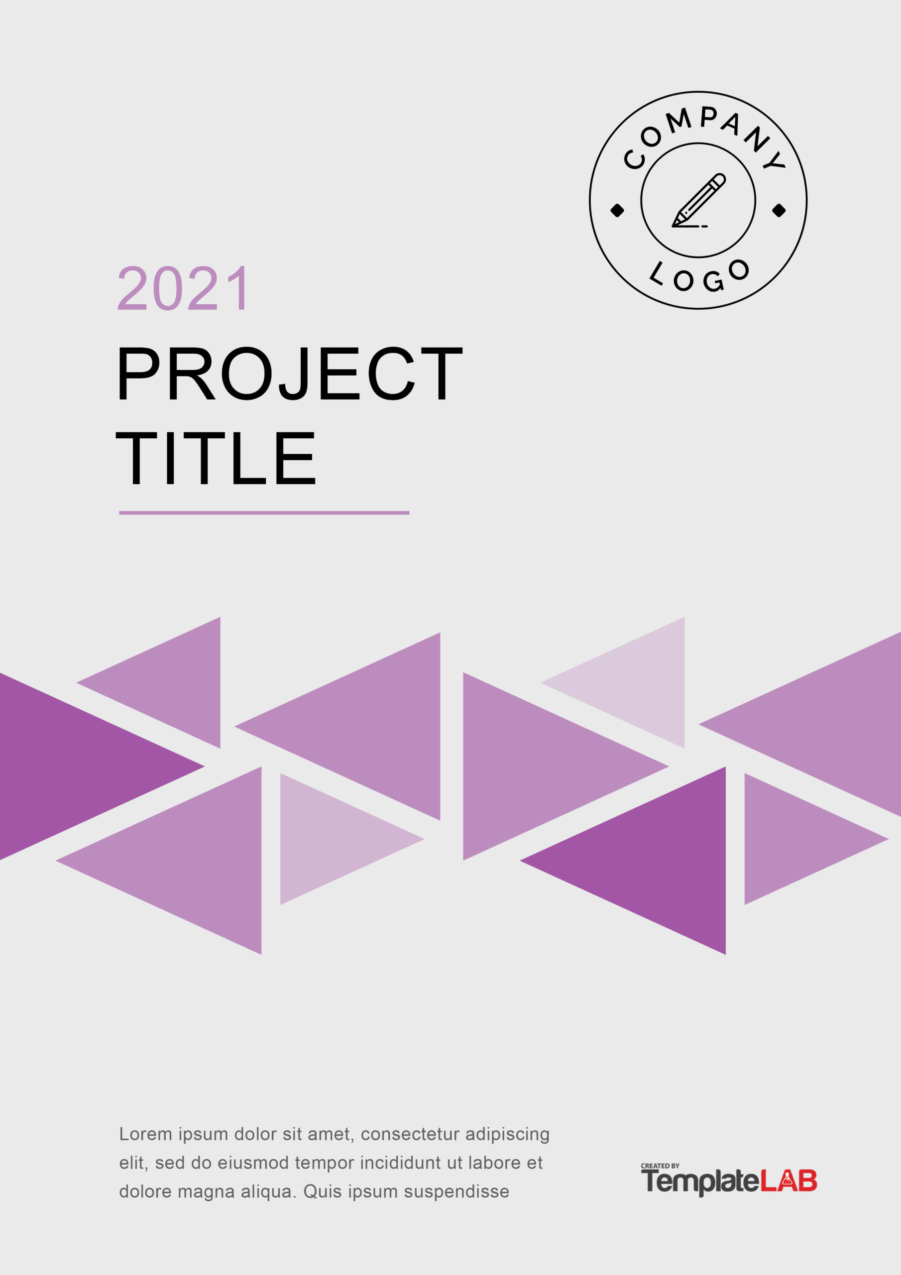 Free Project Cover Page Template