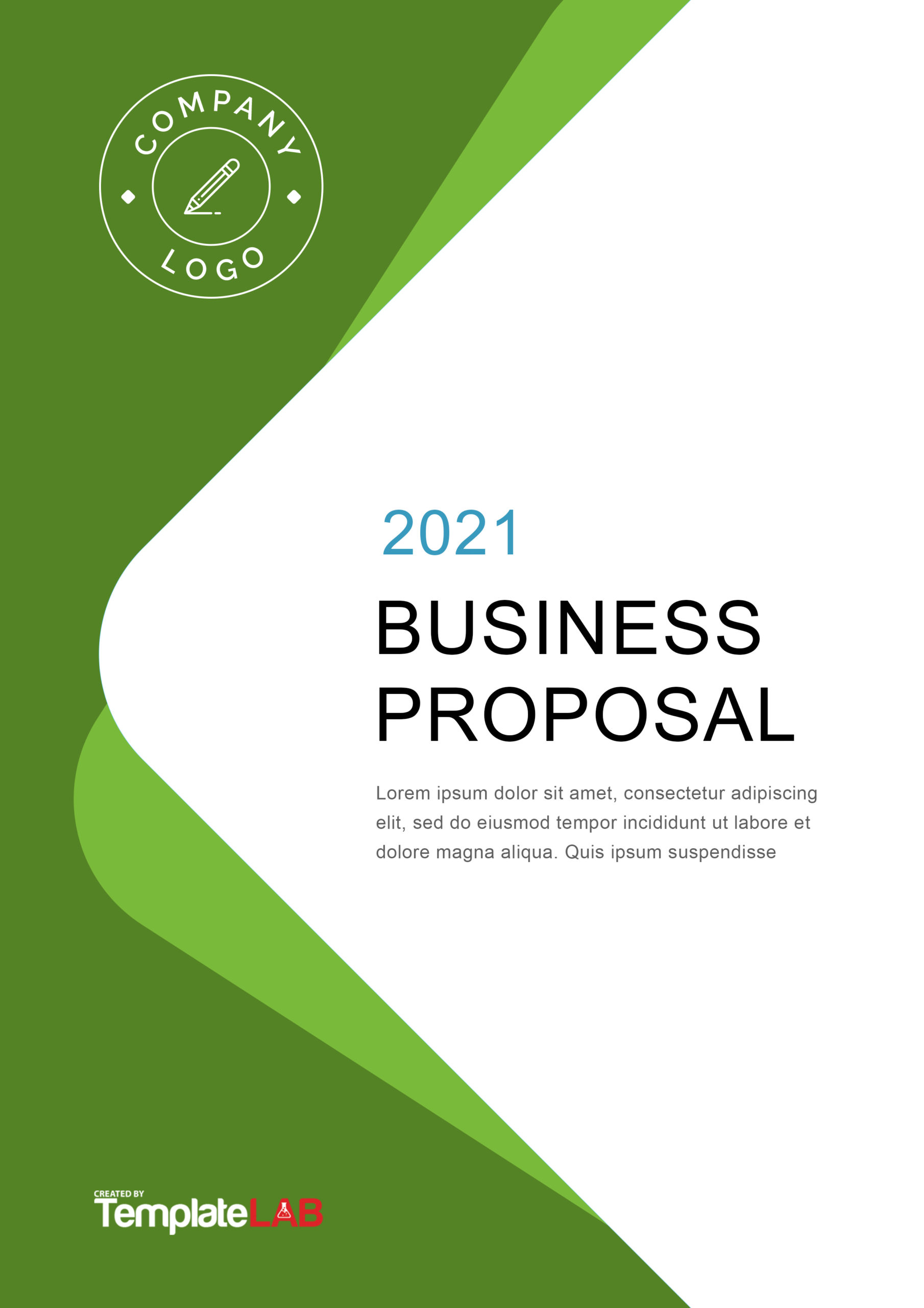 Free Proposal Cover Page Template - TemplateLab.com