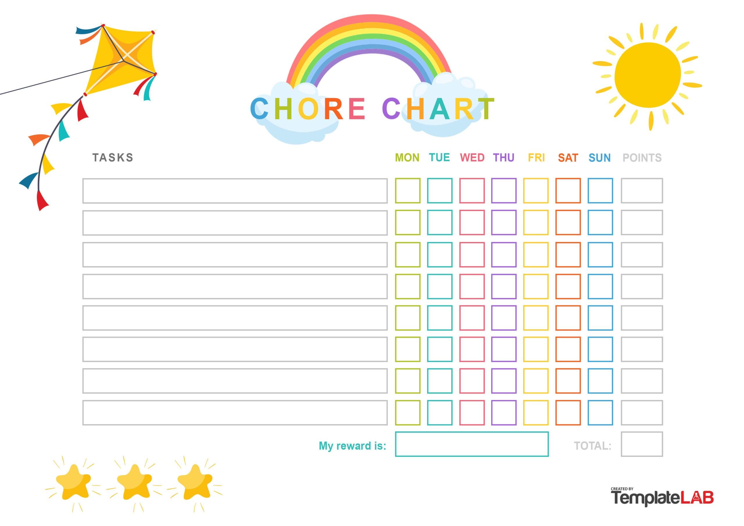 Free Kids Chore Chart - TemplateLab.com