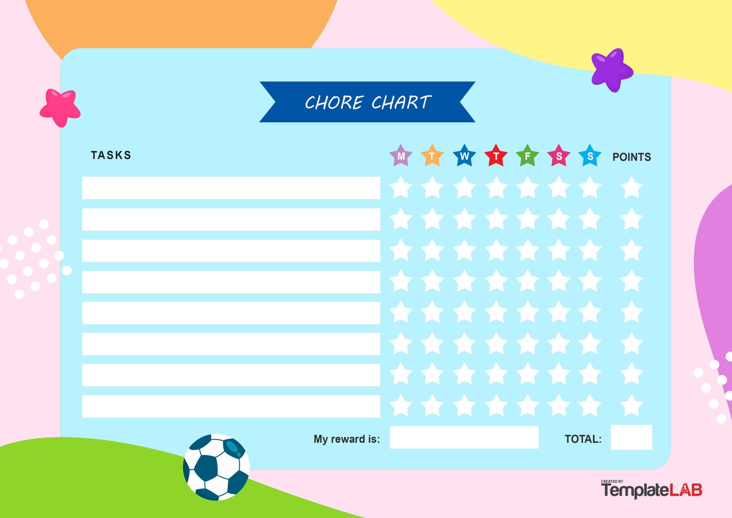 Free Kids Chore Chart v2 - TemplateLab.com