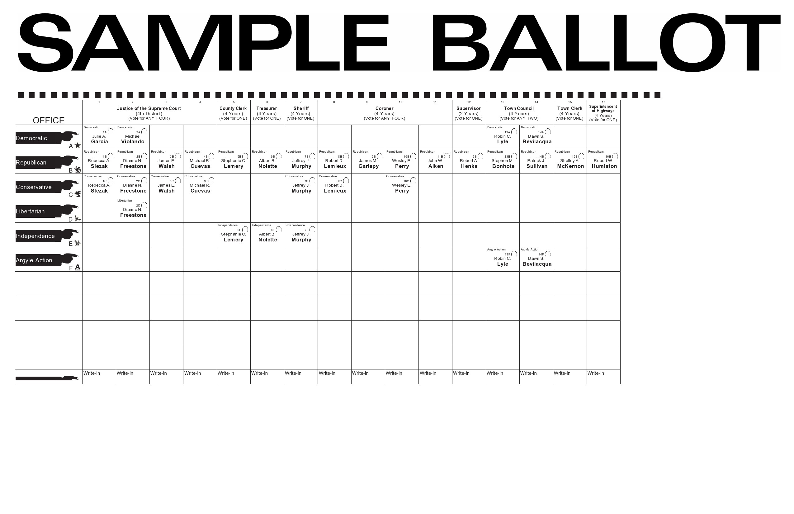 Free ballot template 02
