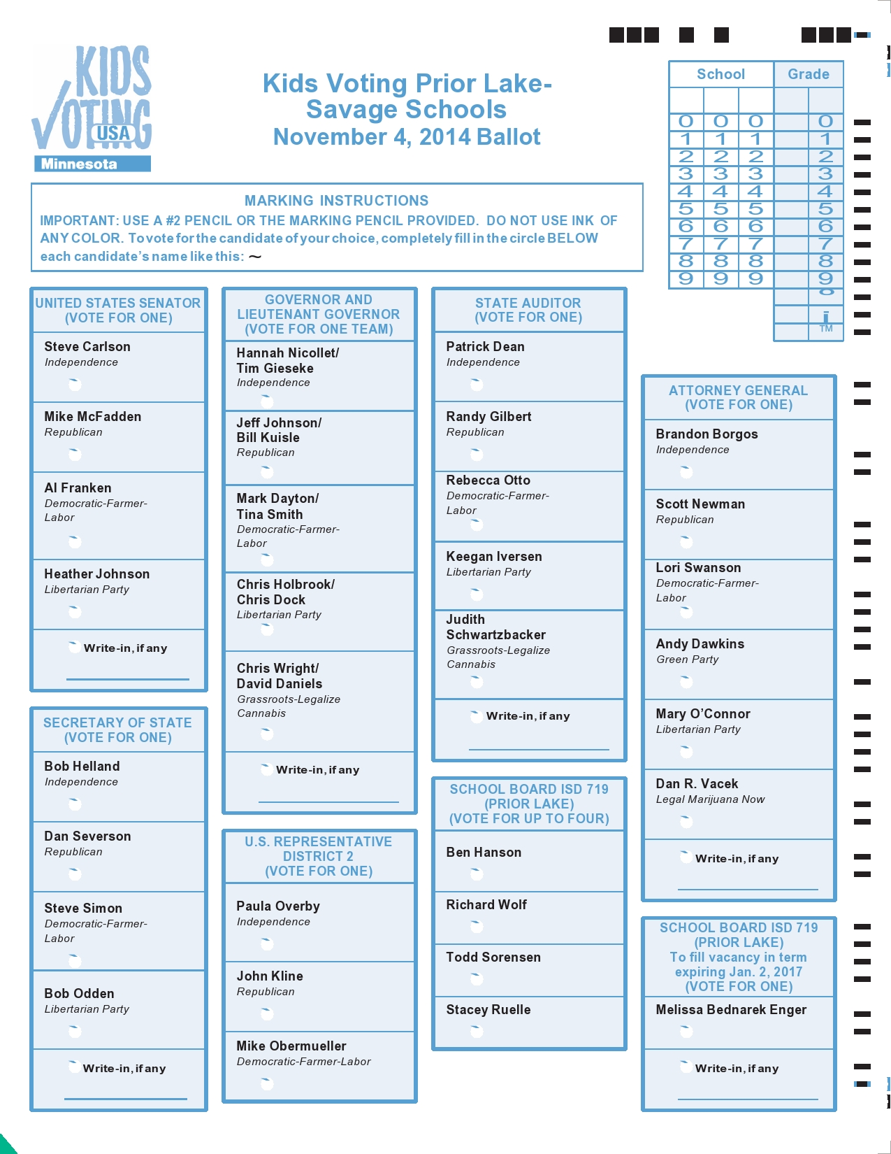 Free ballot template 05