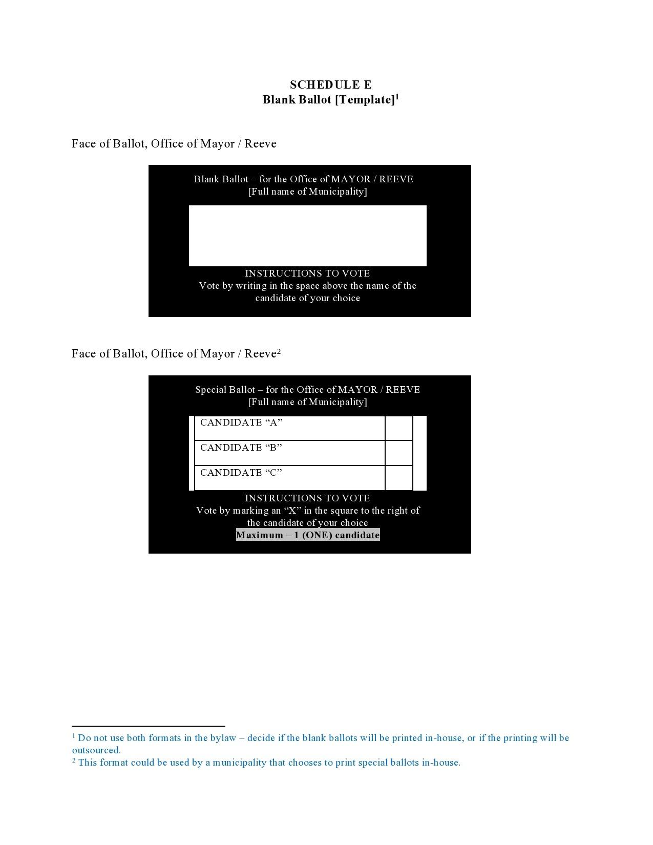 Free ballot template 09