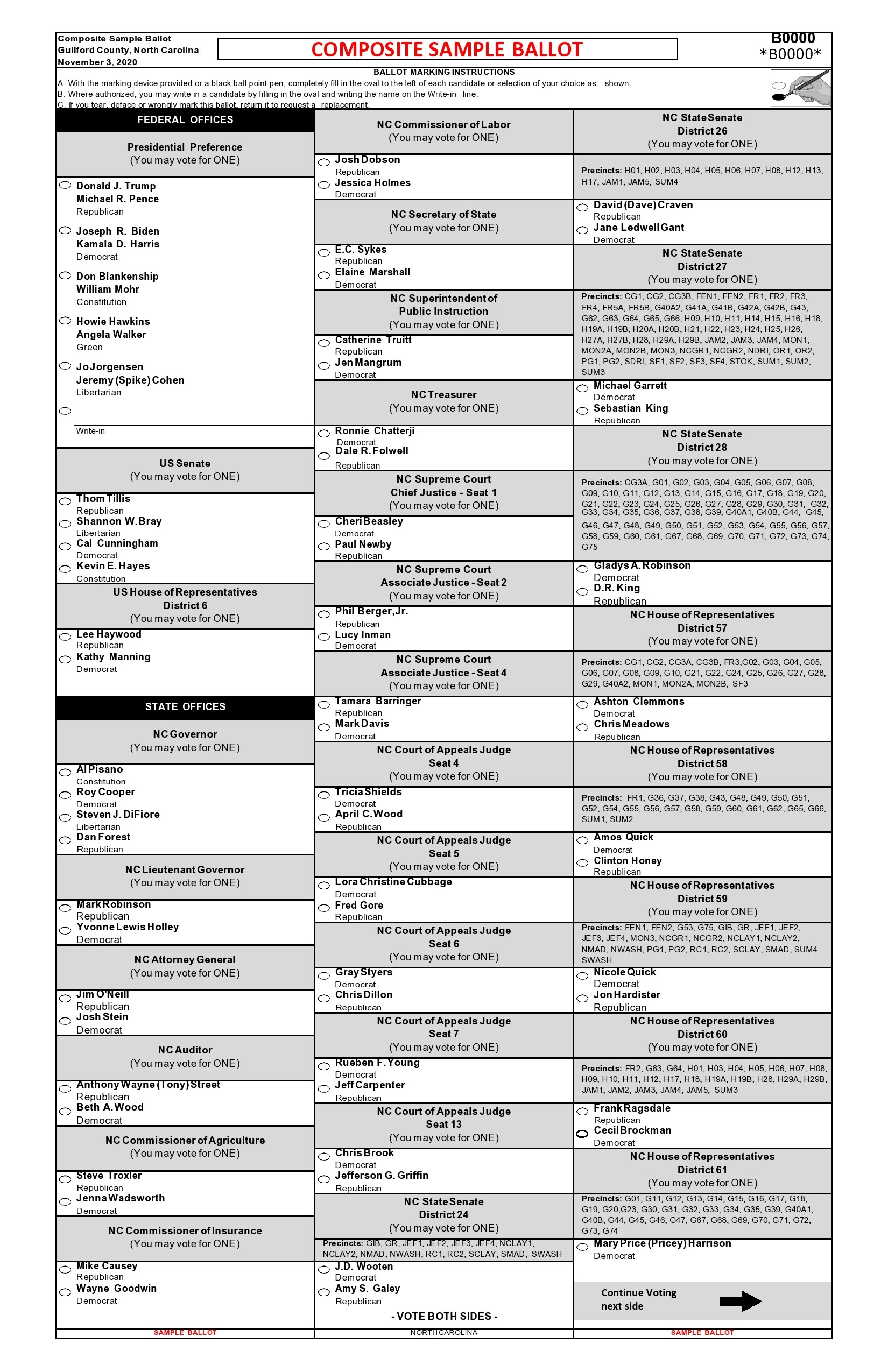 Free ballot template 21
