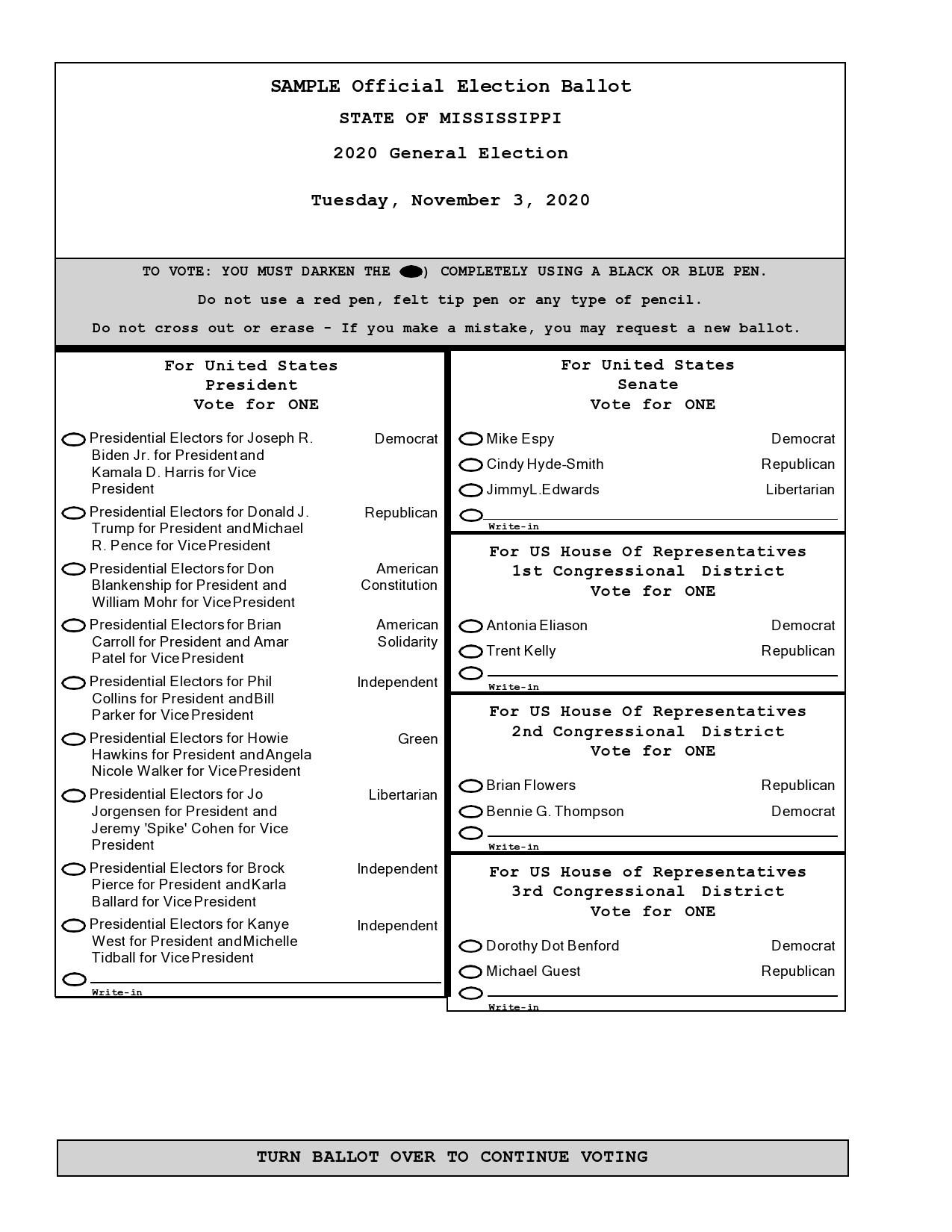 Free ballot template 27