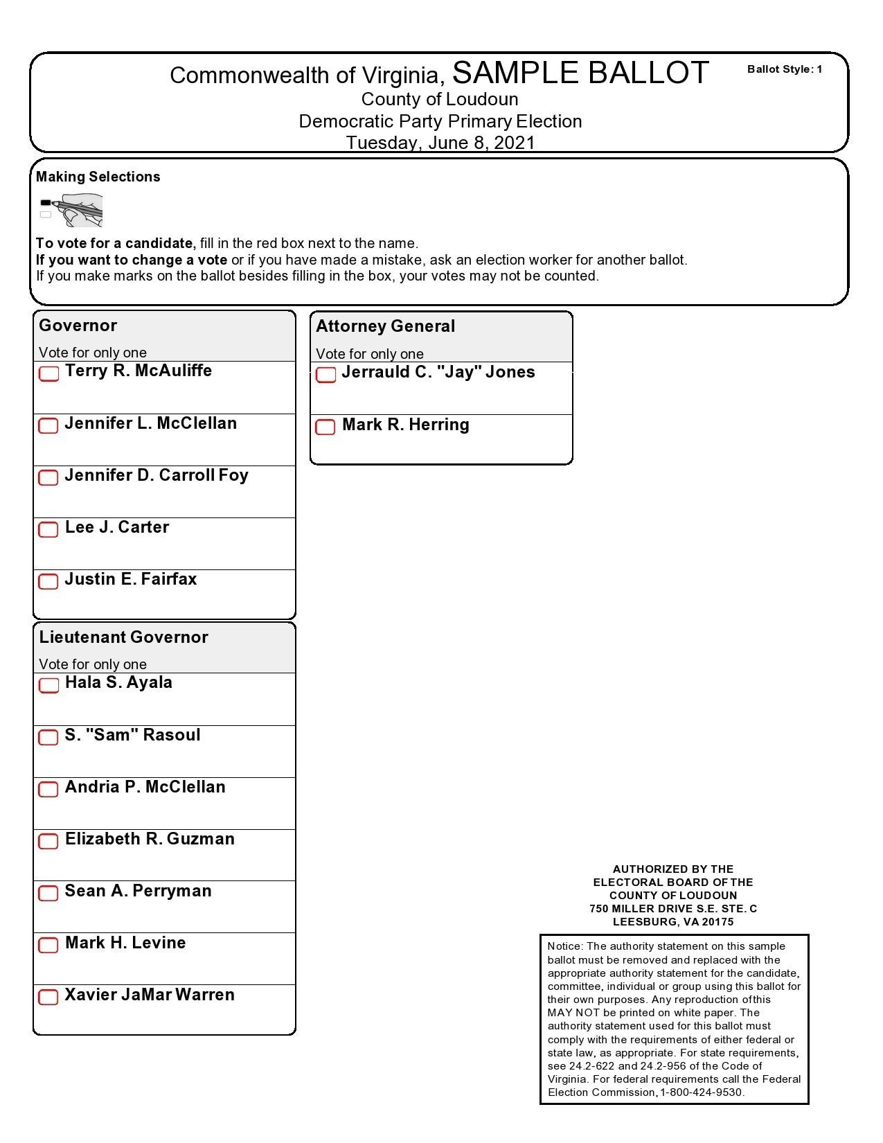 Free ballot template 30