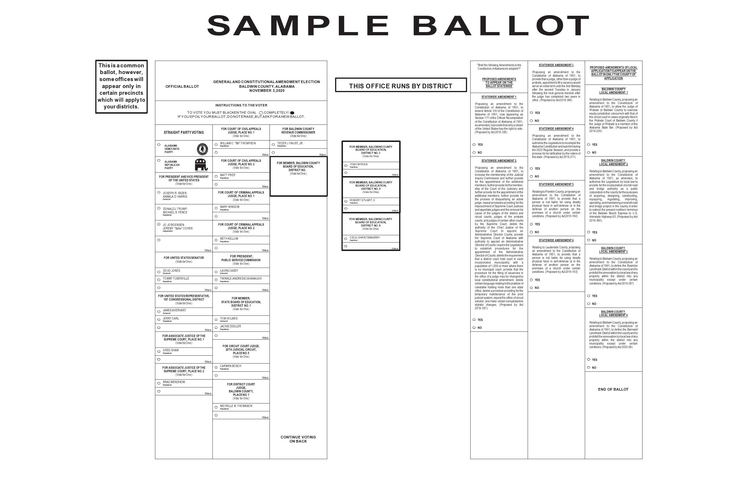 Free ballot template 33