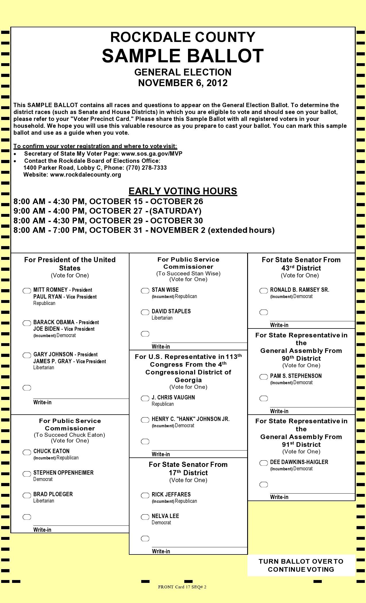 Free ballot template 34