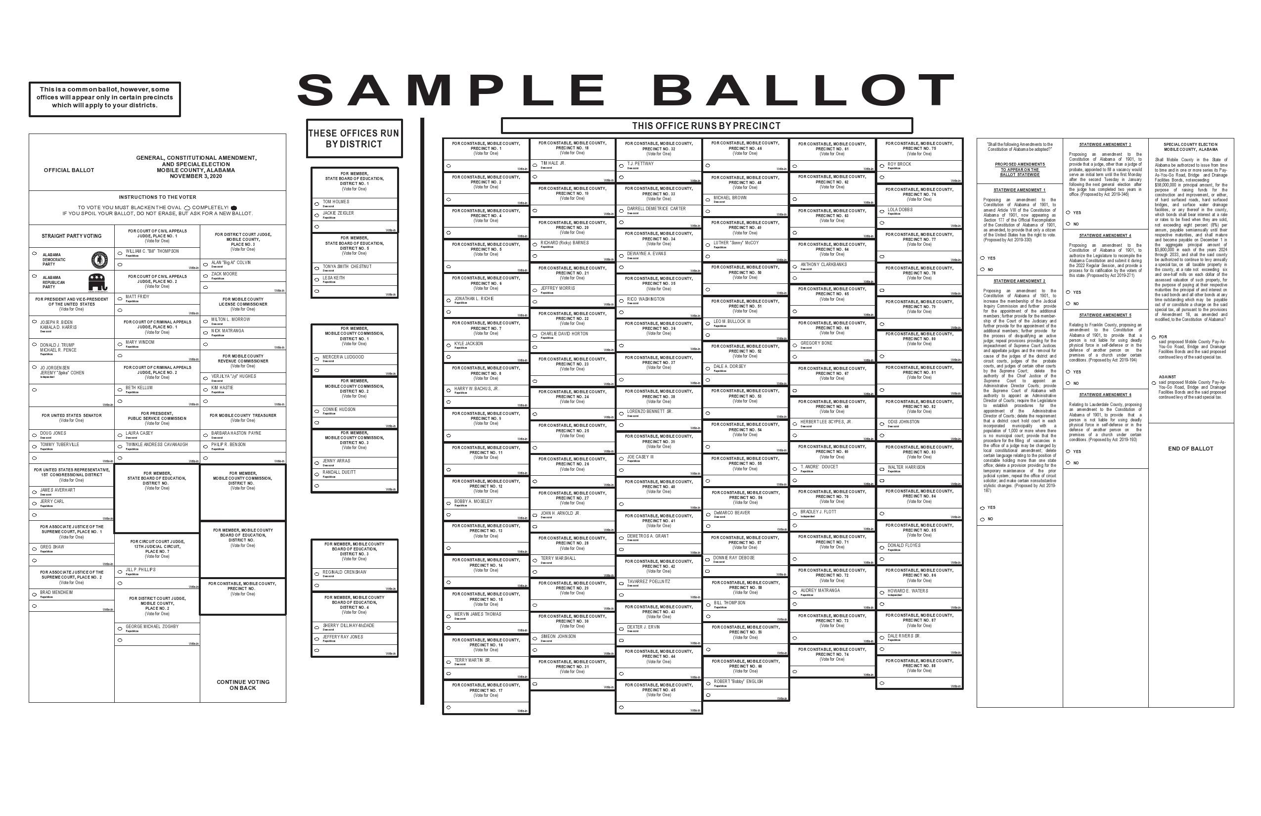 Free ballot template 37