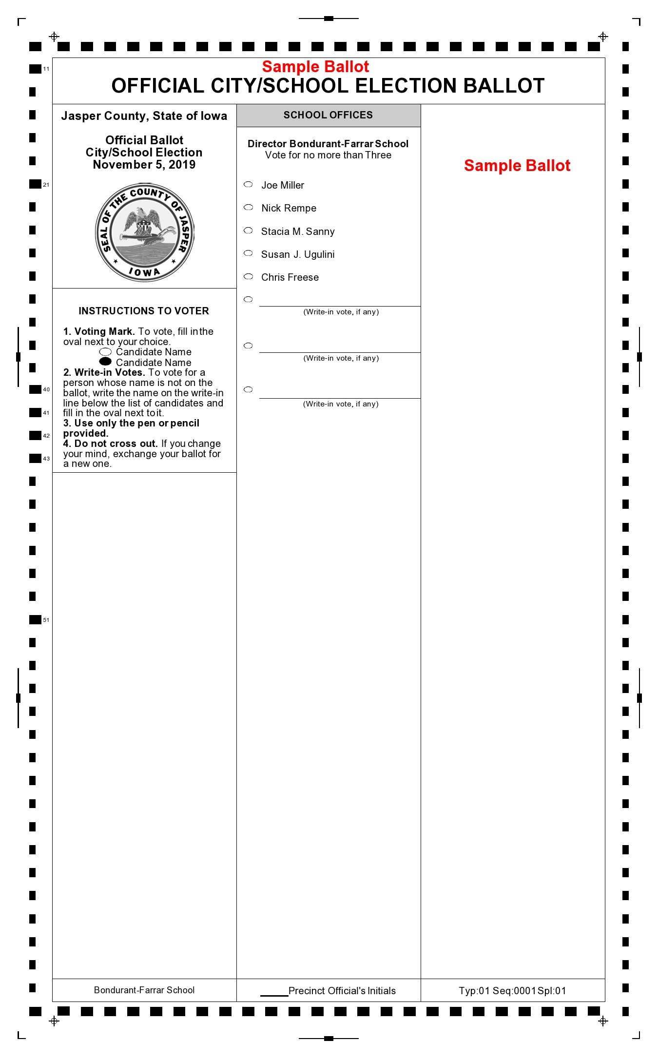 Free ballot template 38