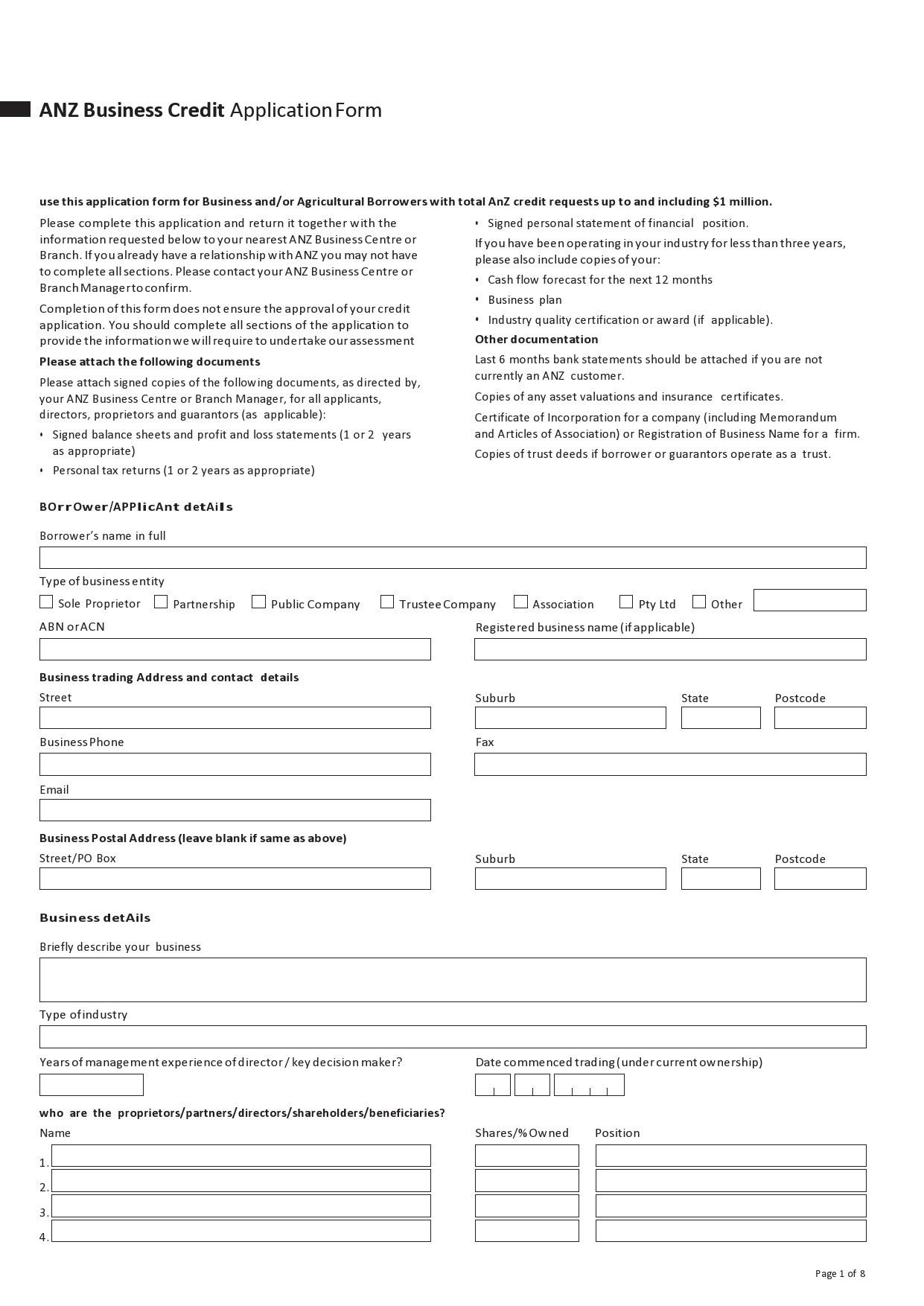 Free business credit application 05