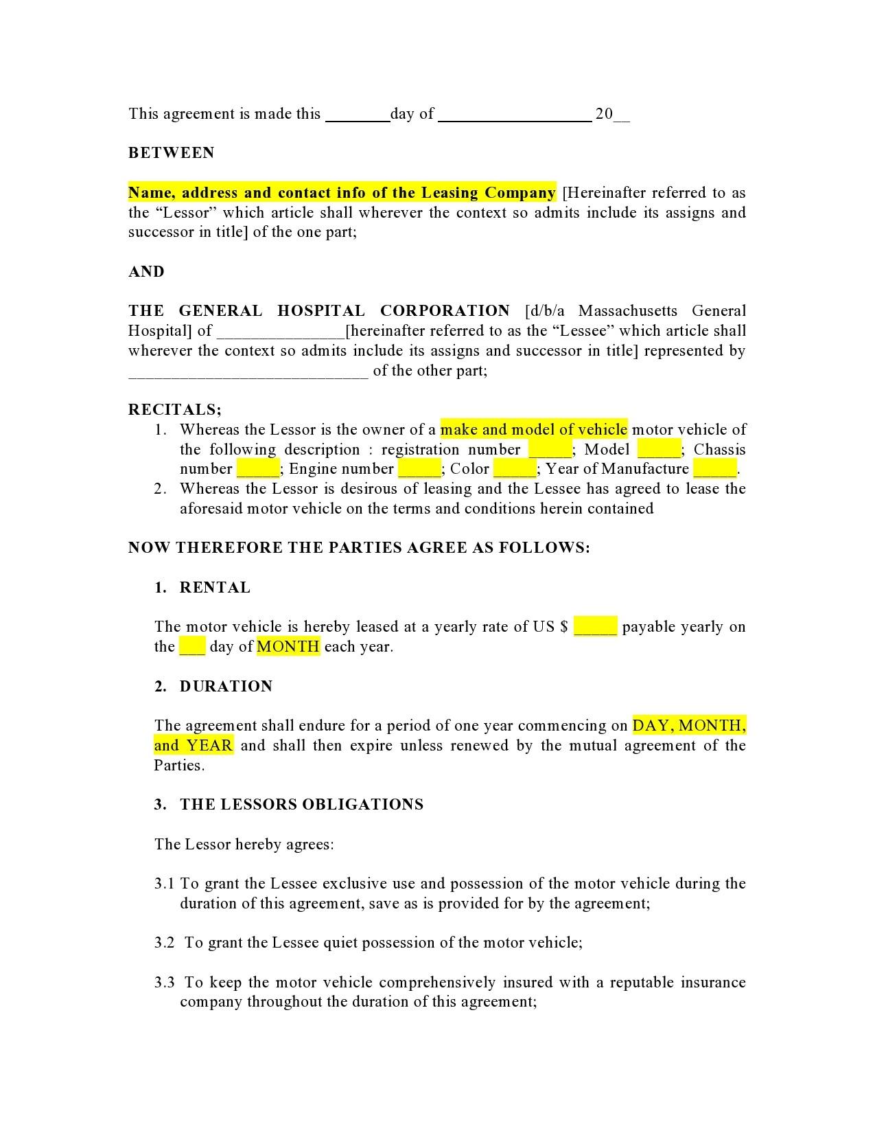 Free car rental agreement 19